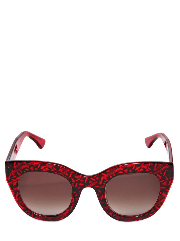 5bab34e706 acetato gato ojo Gafas de Lyst de Thierry sol en de Lasry rojo de BnCfxF
