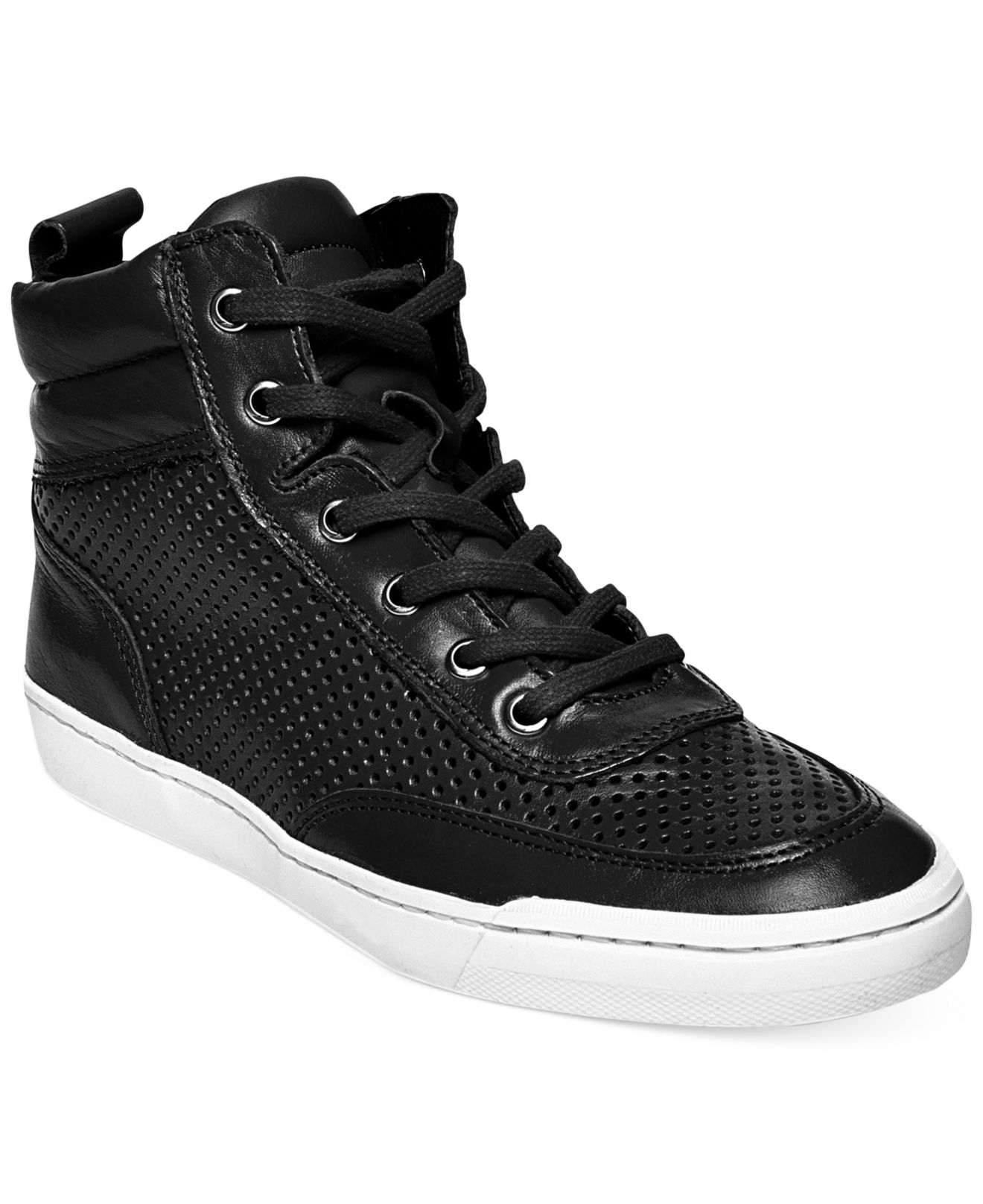 Lyst - Steve Madden Womens Mikeyy High Top Sneakers In Black-1016