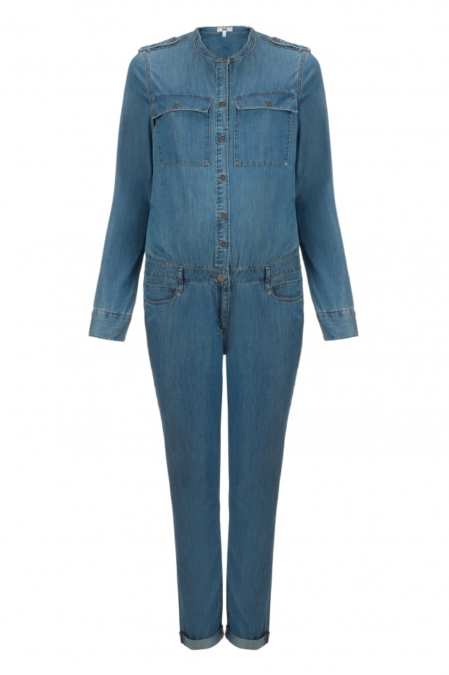 Browse through solid color options, including black or white jumpsuits, red and more, or try something new in denim, sequin or floral styles. A sleeveless jumpsuit or off-the-shoulder romper pairs well with a blazer for a dressier look or browse the women's collection for more stylish ways to wear your jumpsuit.