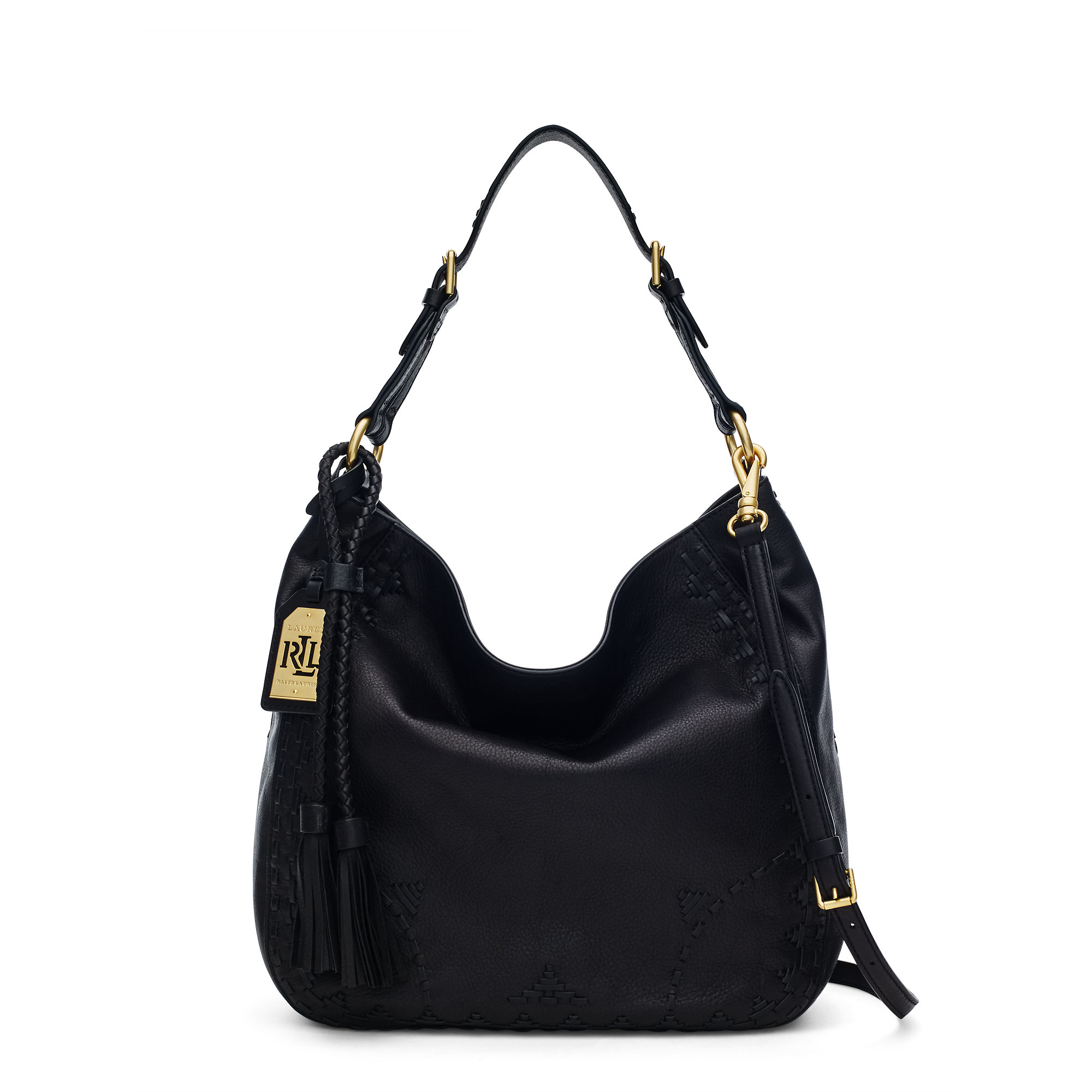 Pink pony Ridley Leather Hobo Bag in Black | Lyst