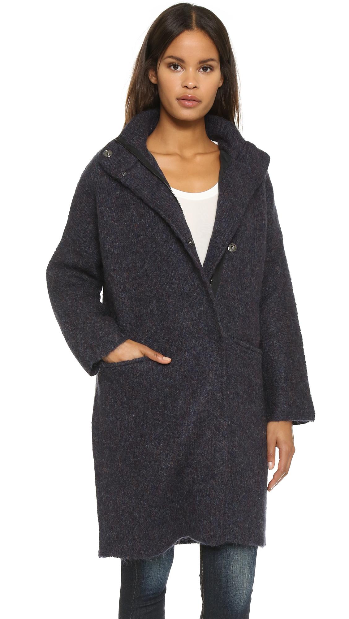 Rag & bone Cammie Sweater Coat - Navy in Blue | Lyst