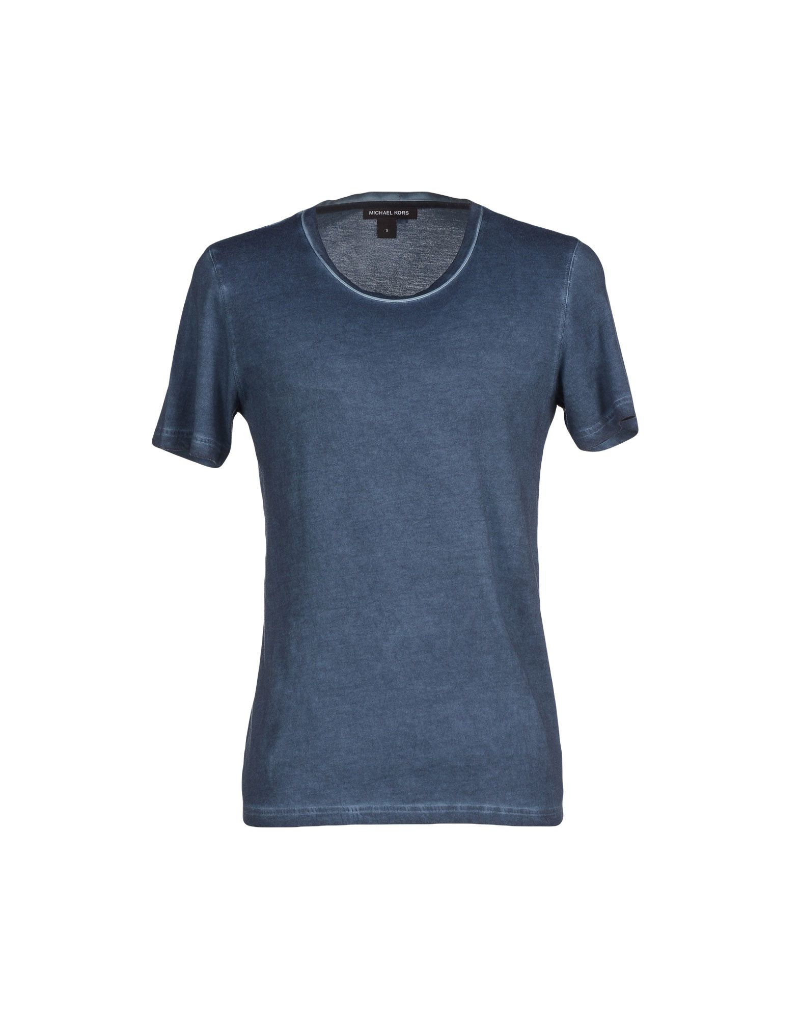 michael kors t shirt in blue for men slate blue lyst. Black Bedroom Furniture Sets. Home Design Ideas