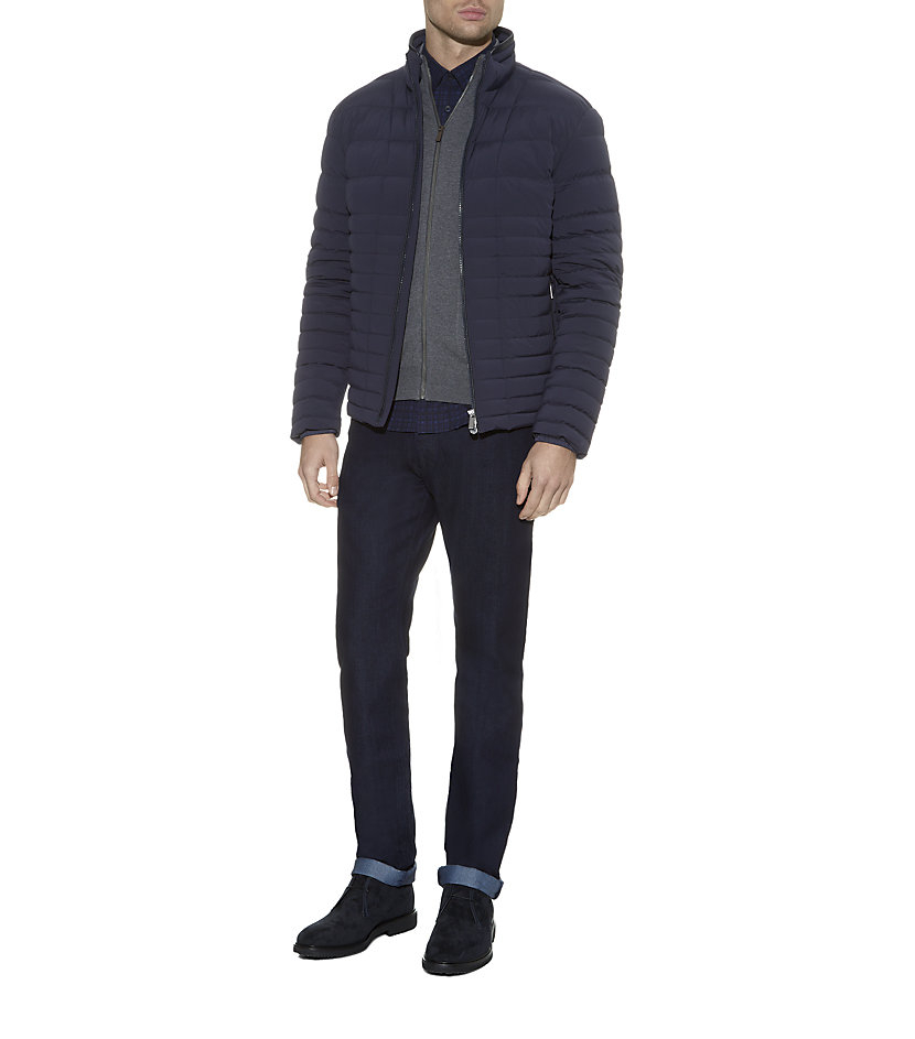 Zegna sport leather jacket