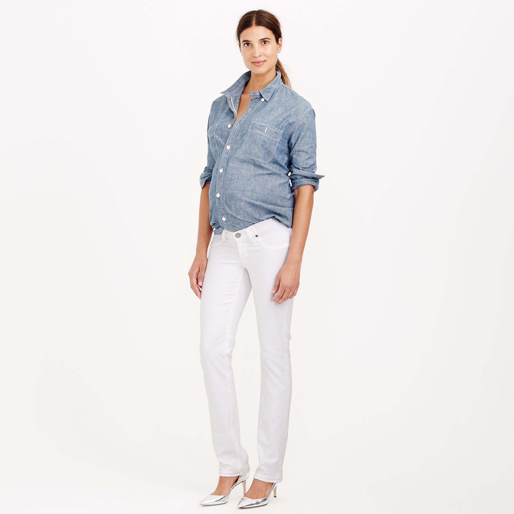 aa8fb94d7bb55 J.Crew Stretch Maternity Matchstick Jean In Chalk in White - Lyst