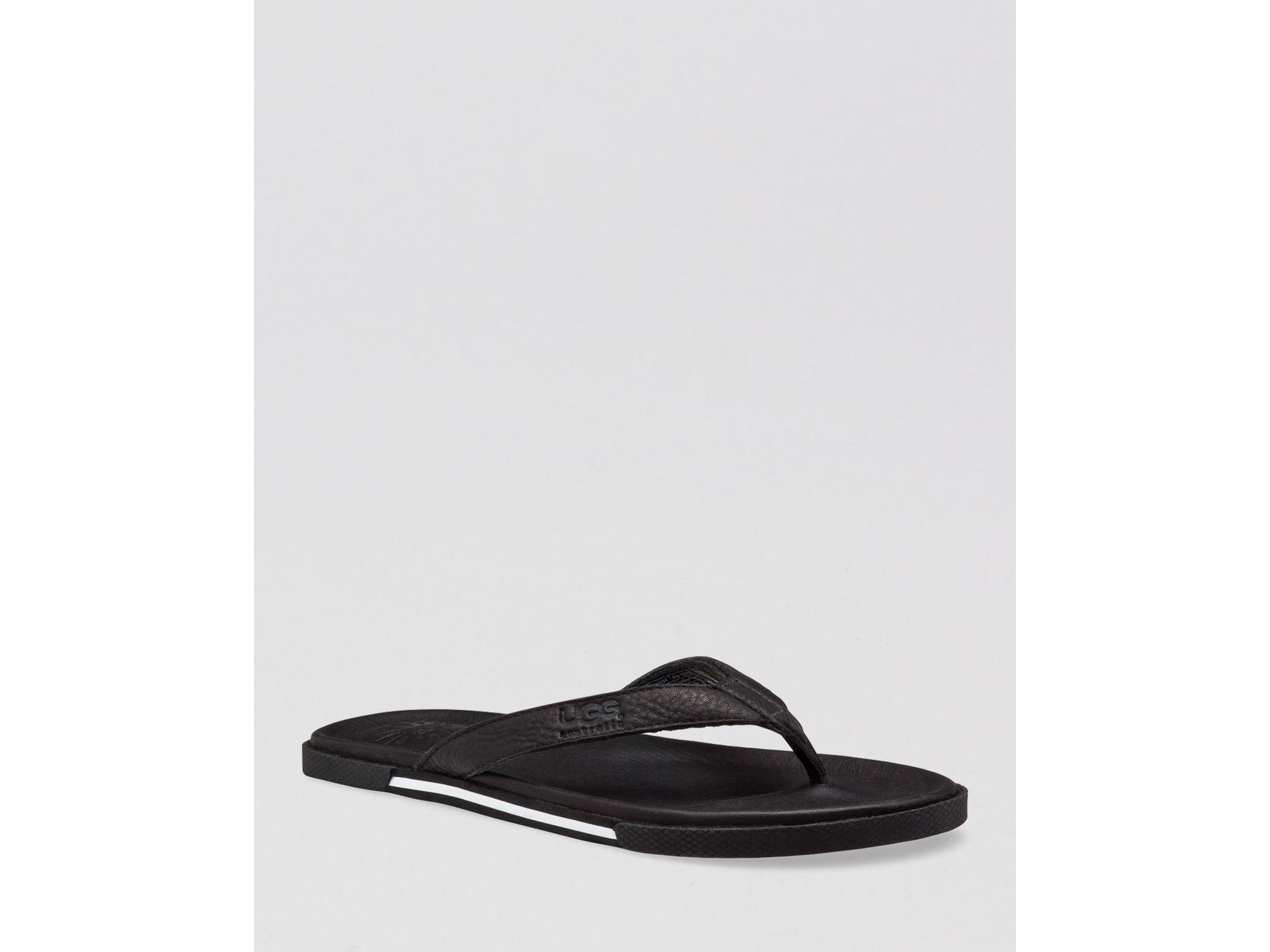 Ugg Australia Bennison Beach Flip Flops In Black For Men  Lyst-2242
