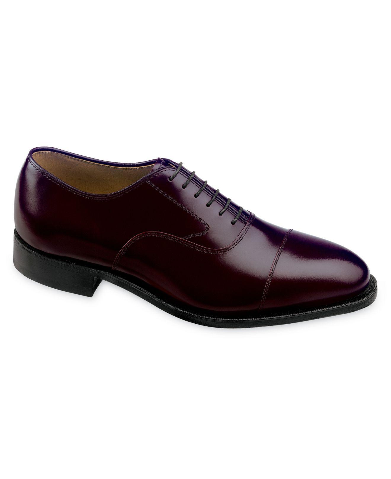 Johnston Amp Murphy Shoes Melton Cap Toe Oxfords In Purple