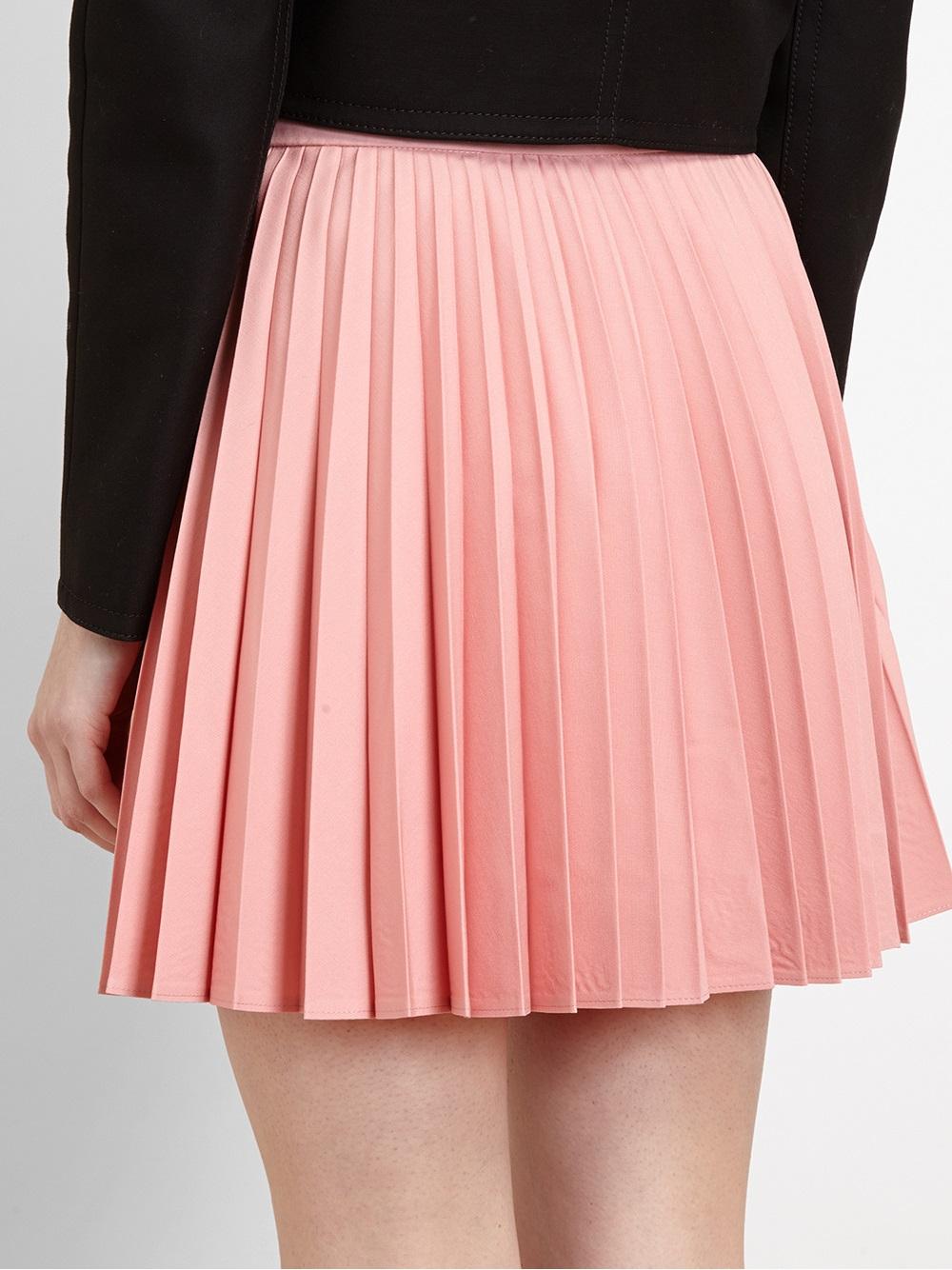 J.w.anderson Sunray Pleated Wool Miniskirt in Pink | Lyst