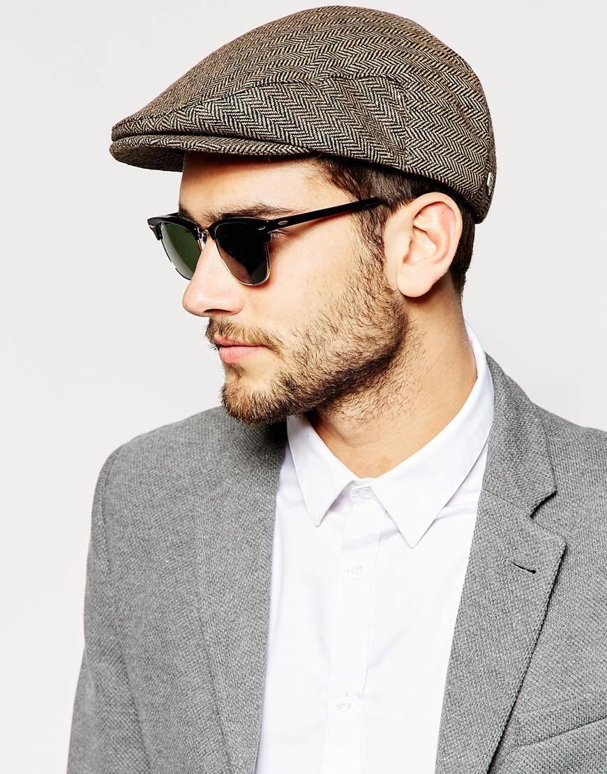 Lyst - Brixton Hooligan Flat Cap in Brown for Men 8dac1c1e9d8
