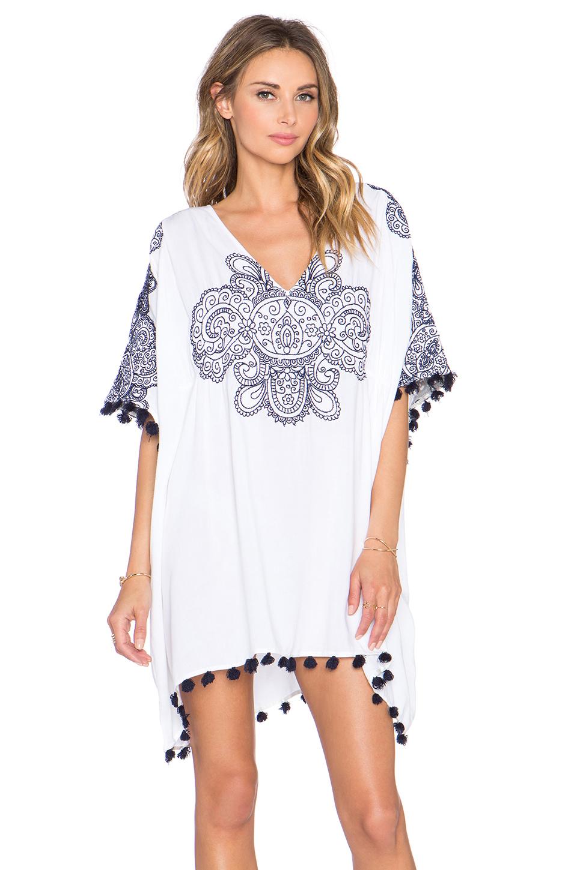 3d7958d546 Lyst - Nanette Lepore Henna Caftan in White