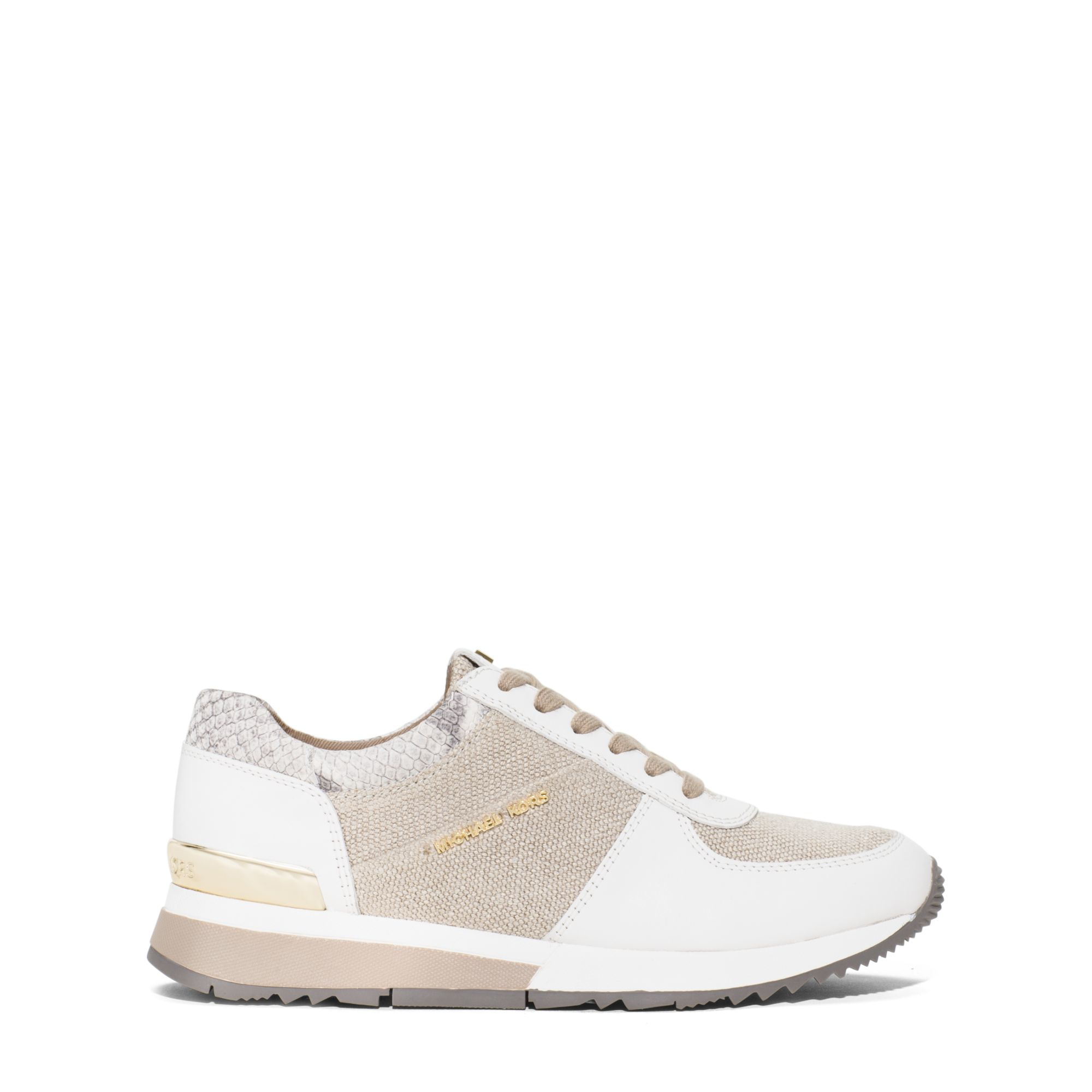 0189587a1d2bd Lyst - Michael Kors Allie Hemp And Leather Sneaker in Natural