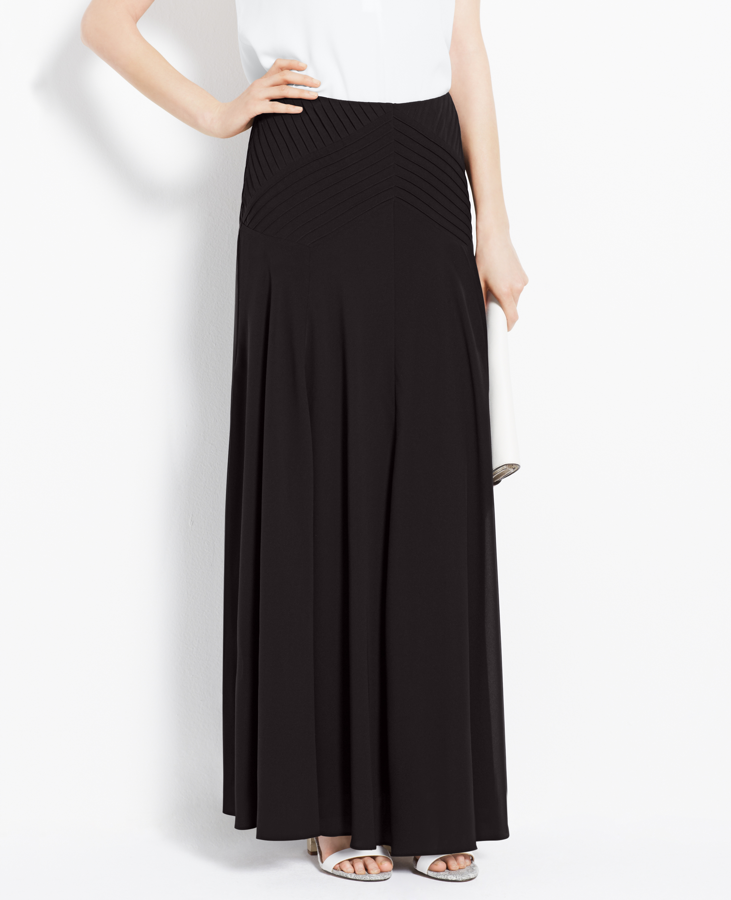 57063c91a3 Petite Black Chiffon Maxi Skirt – DACC