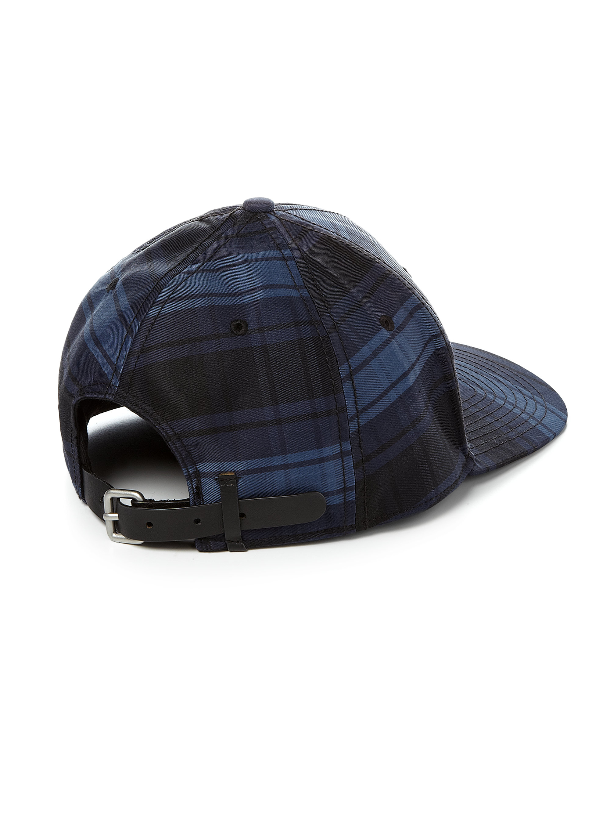 marc by marc plaid baseball hat in blue for lyst