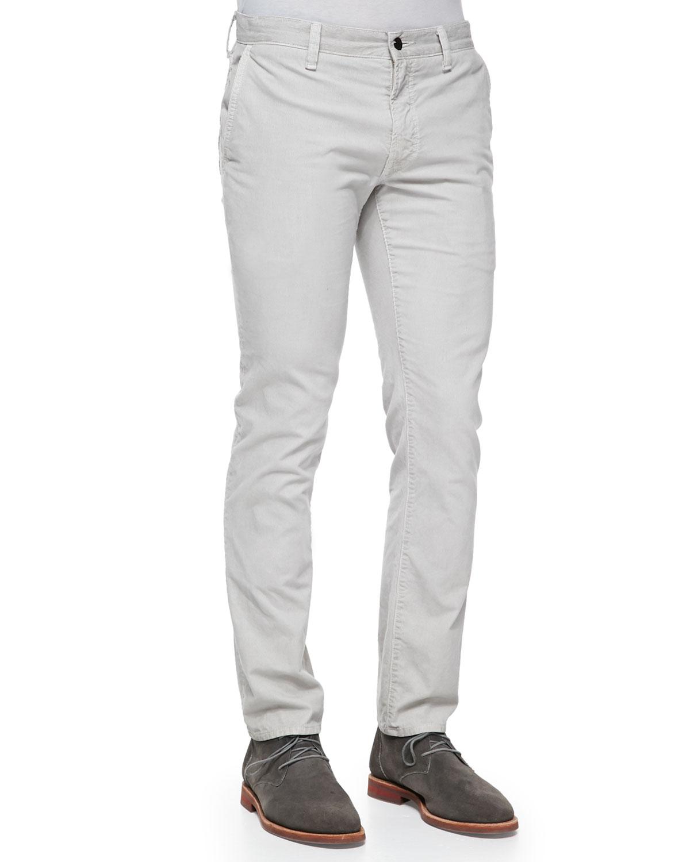 Mens White Corduroy Pants   Gpant