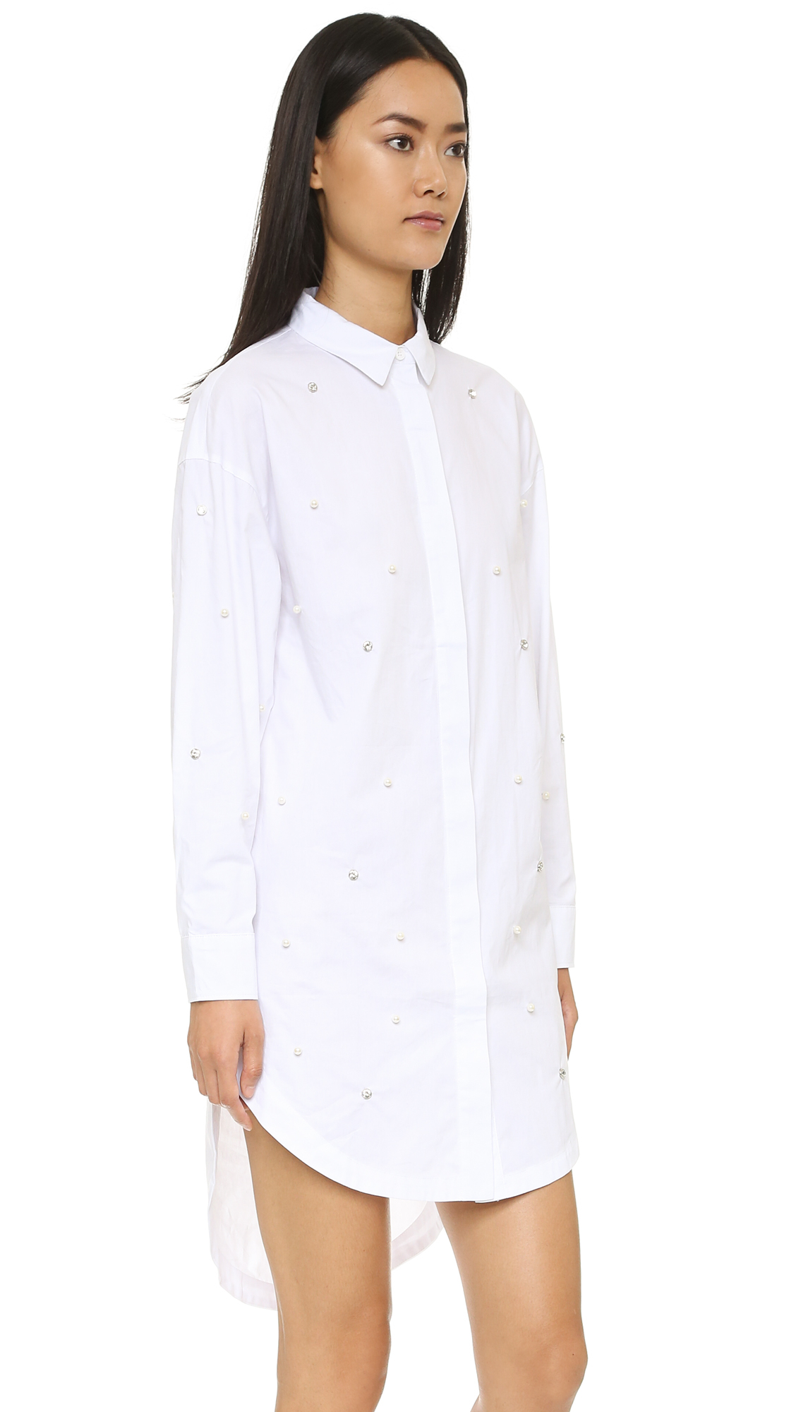 Endless rose Shirtdress - White in White | Lyst