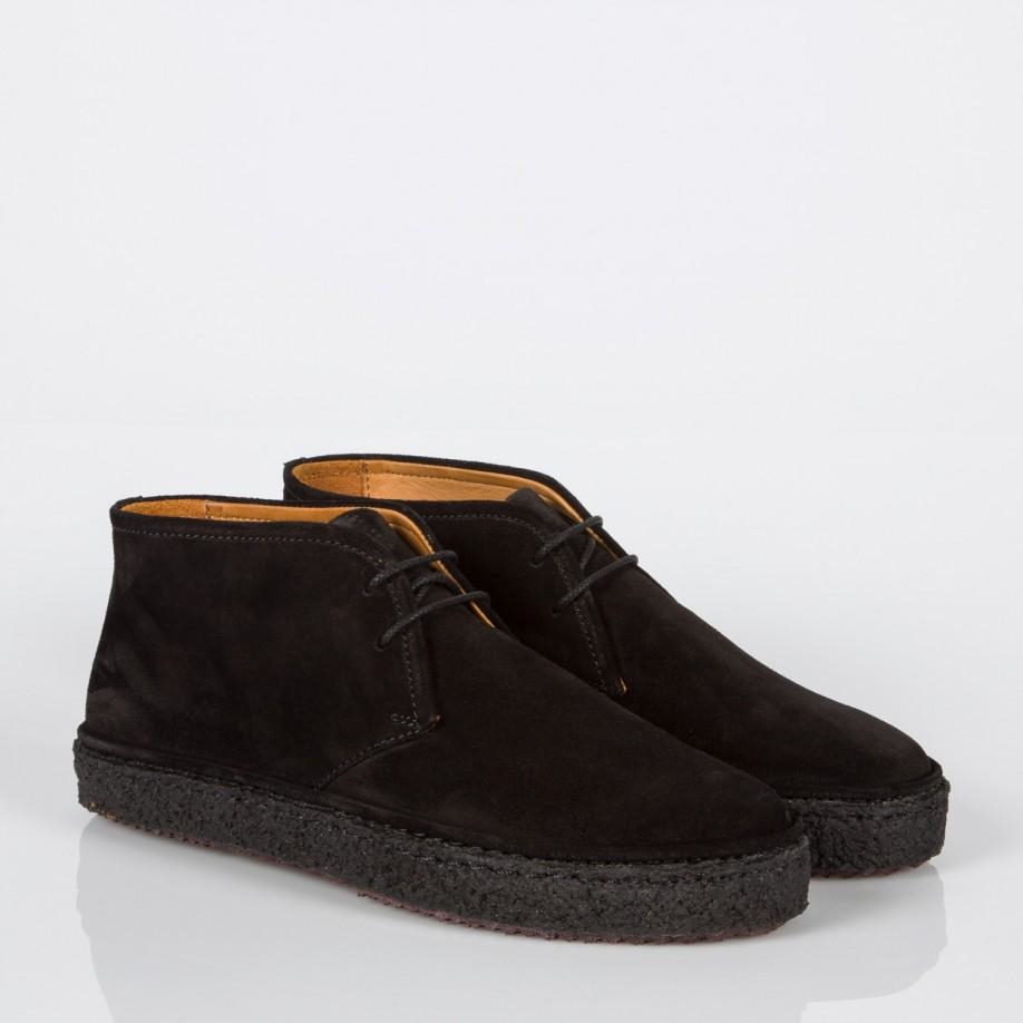paul smith marley suede chukka boots in black lyst