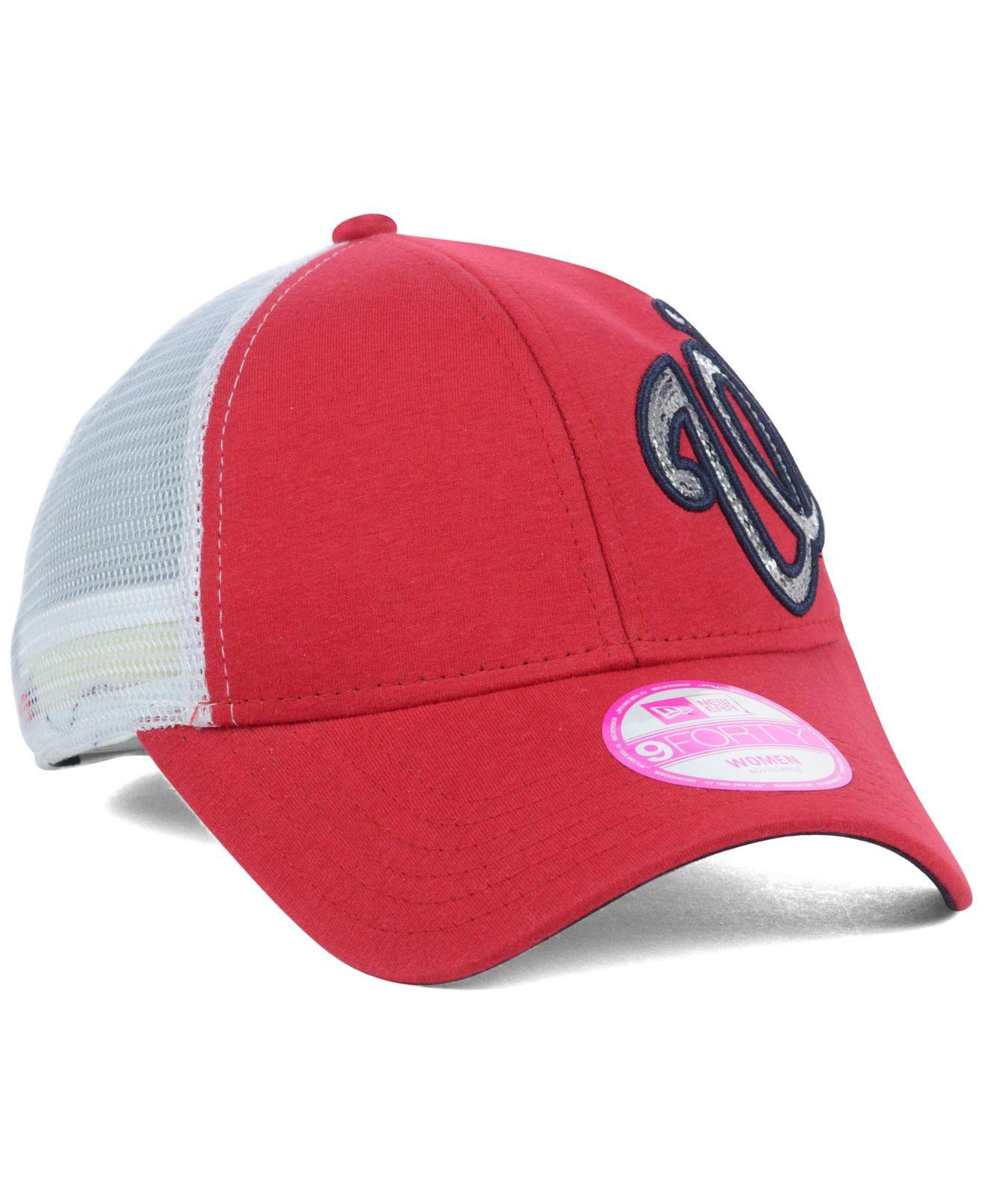 fe369b7e4b7 ... shop lyst ktz womens washington nationals sequin shimmer 9forty cap in  8993b b8681