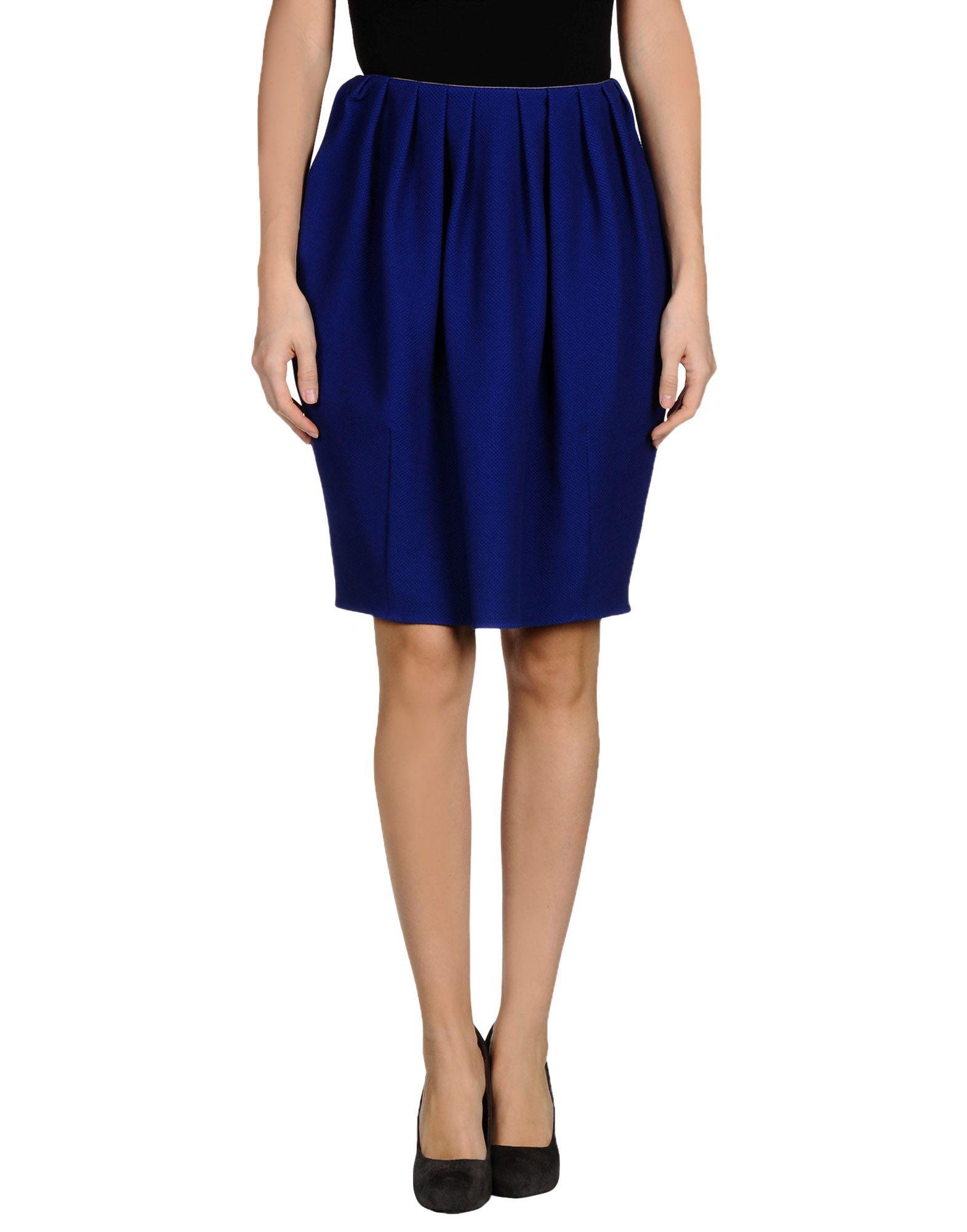 gianluca capannolo knee length skirt in blue lyst