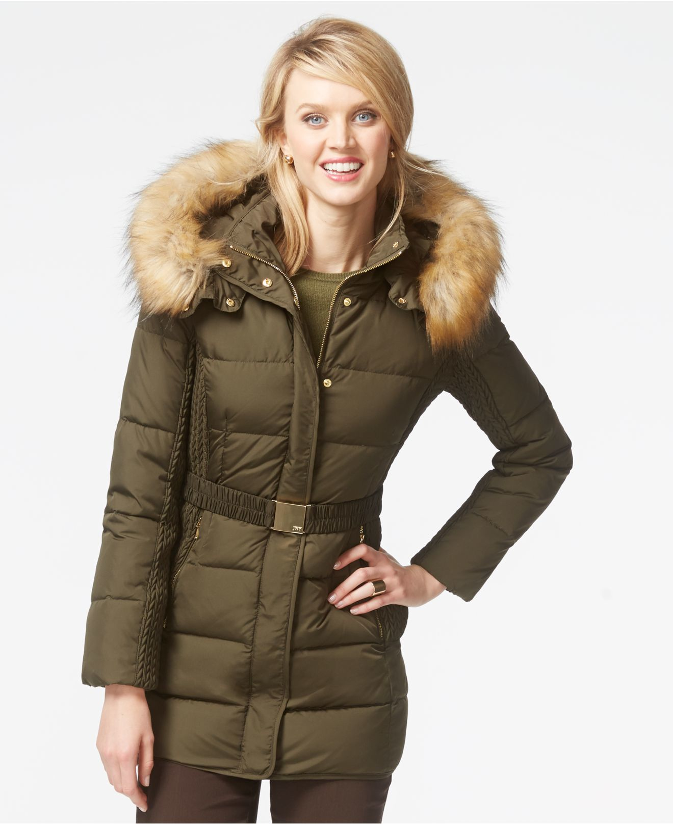 Jones New York Faux Fur Coats - Tradingbasis