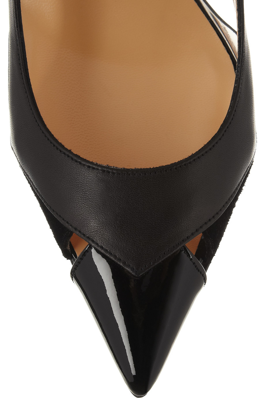 Christian louboutin Air Chance 100 Leather And Suede Slingback ...