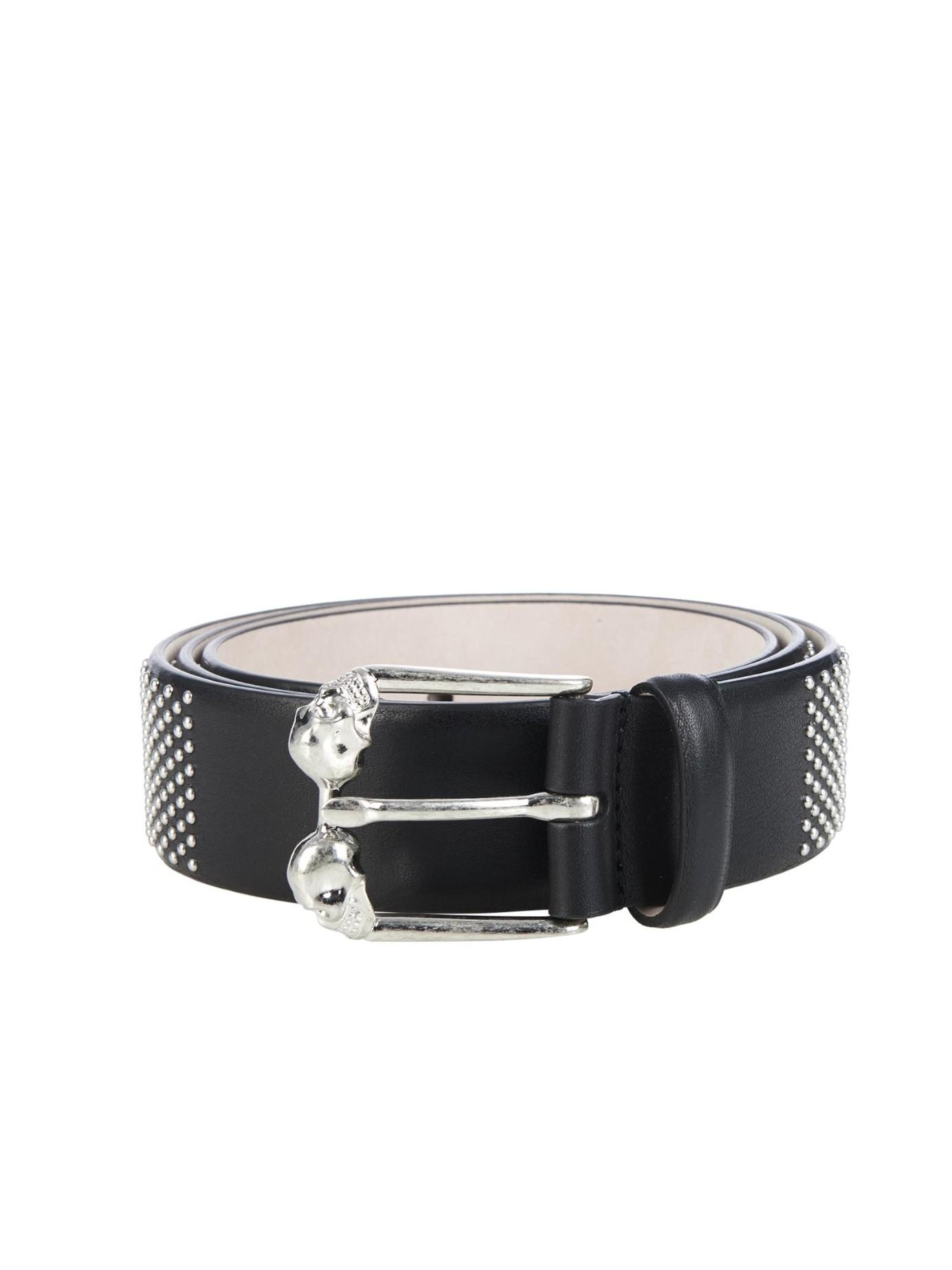 Black and Gold Studded Belt Alexander McQueen I6QAFjd6Zb