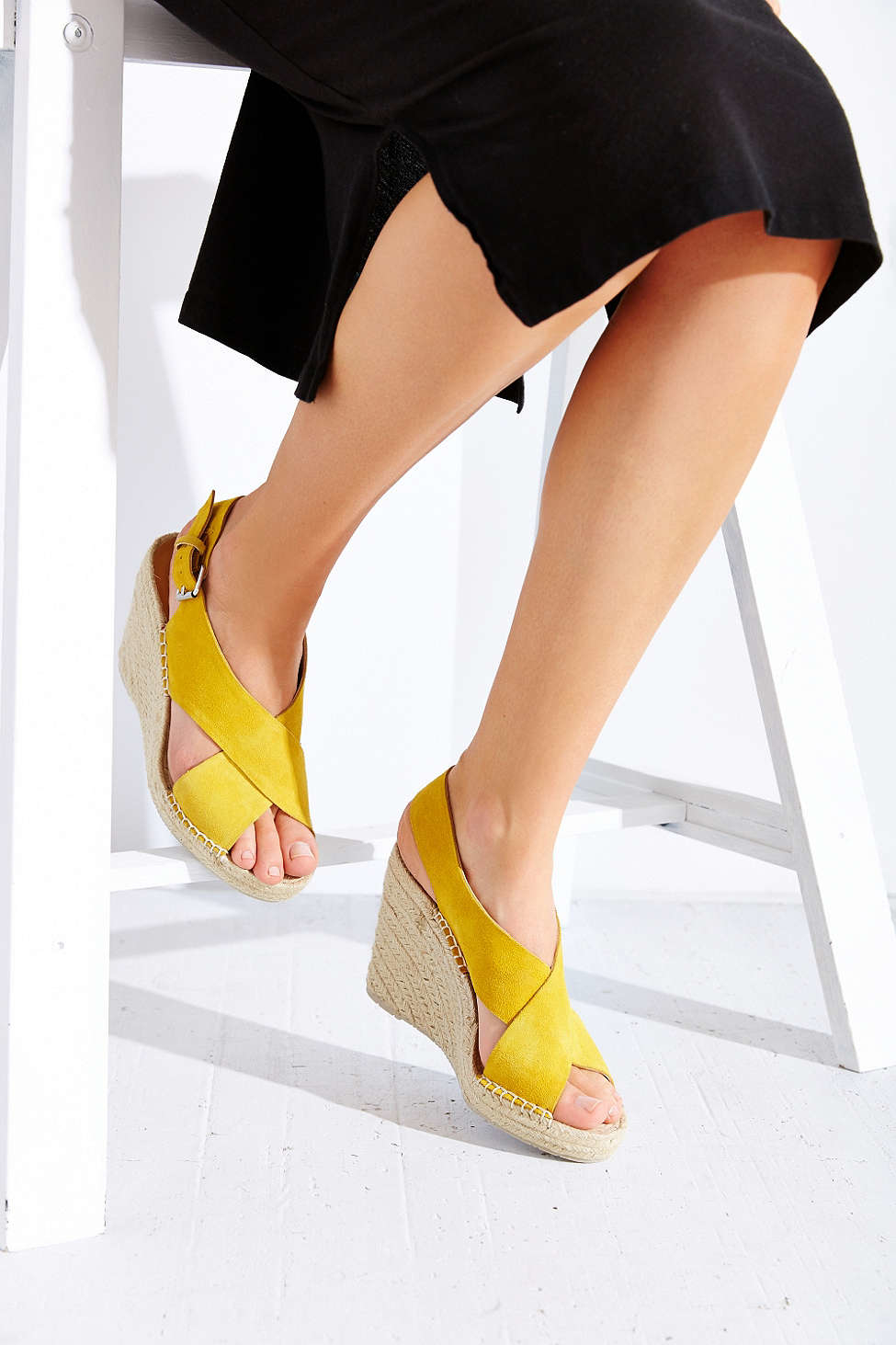 1a684ea590af Lyst - Dolce Vita Sovay Wedge Sandal in Yellow