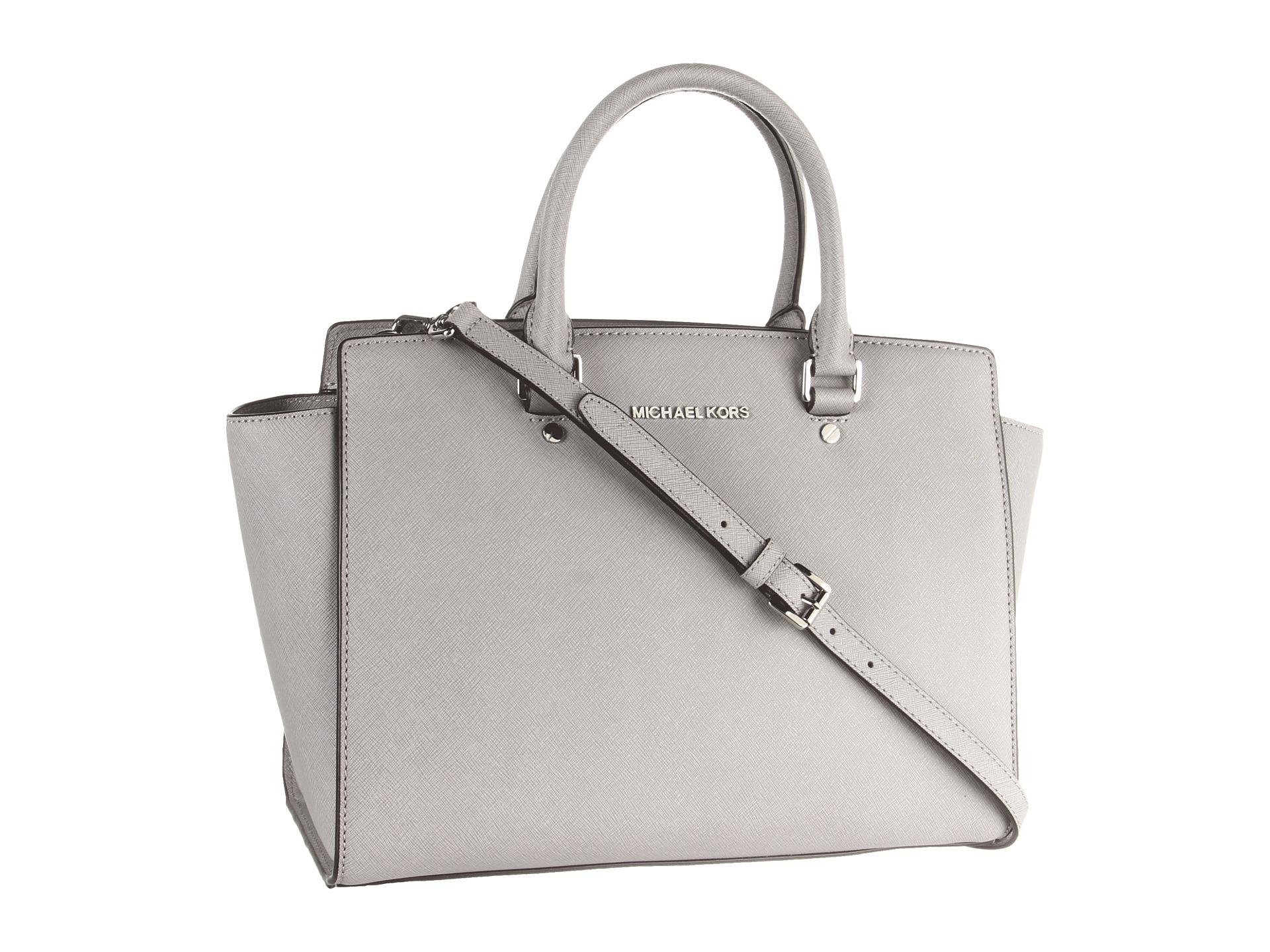 michael michael kors selma large tz satchel in gray pearl grey. Black Bedroom Furniture Sets. Home Design Ideas