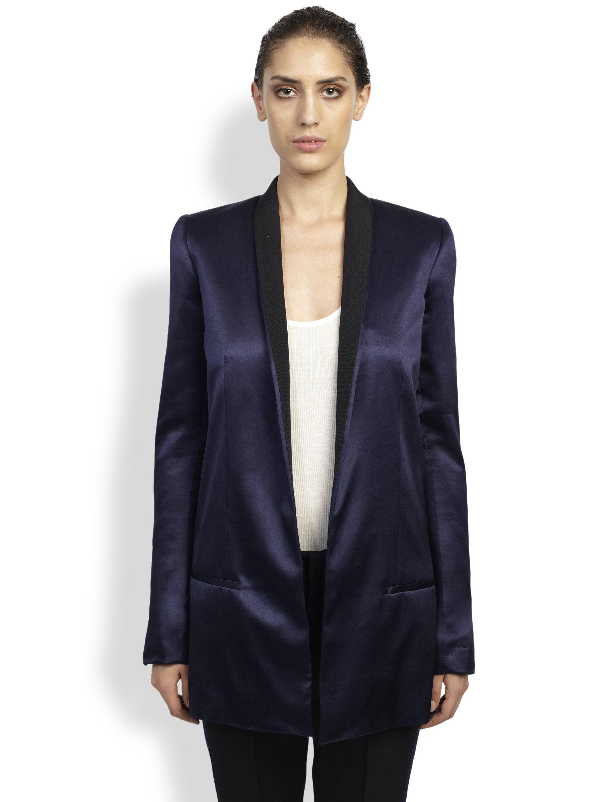 ec34d9885fc Haider Ackermann Jaipal Silk Blazer in Blue - Lyst
