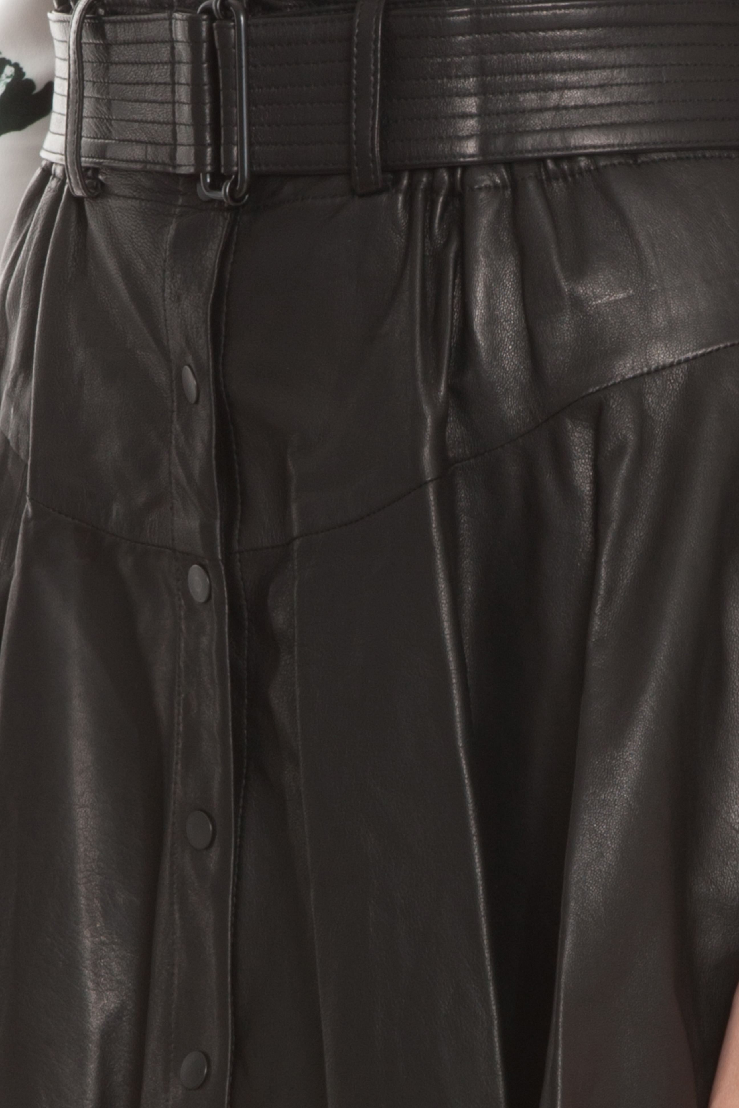 a l c 100 leather skirt in black lyst
