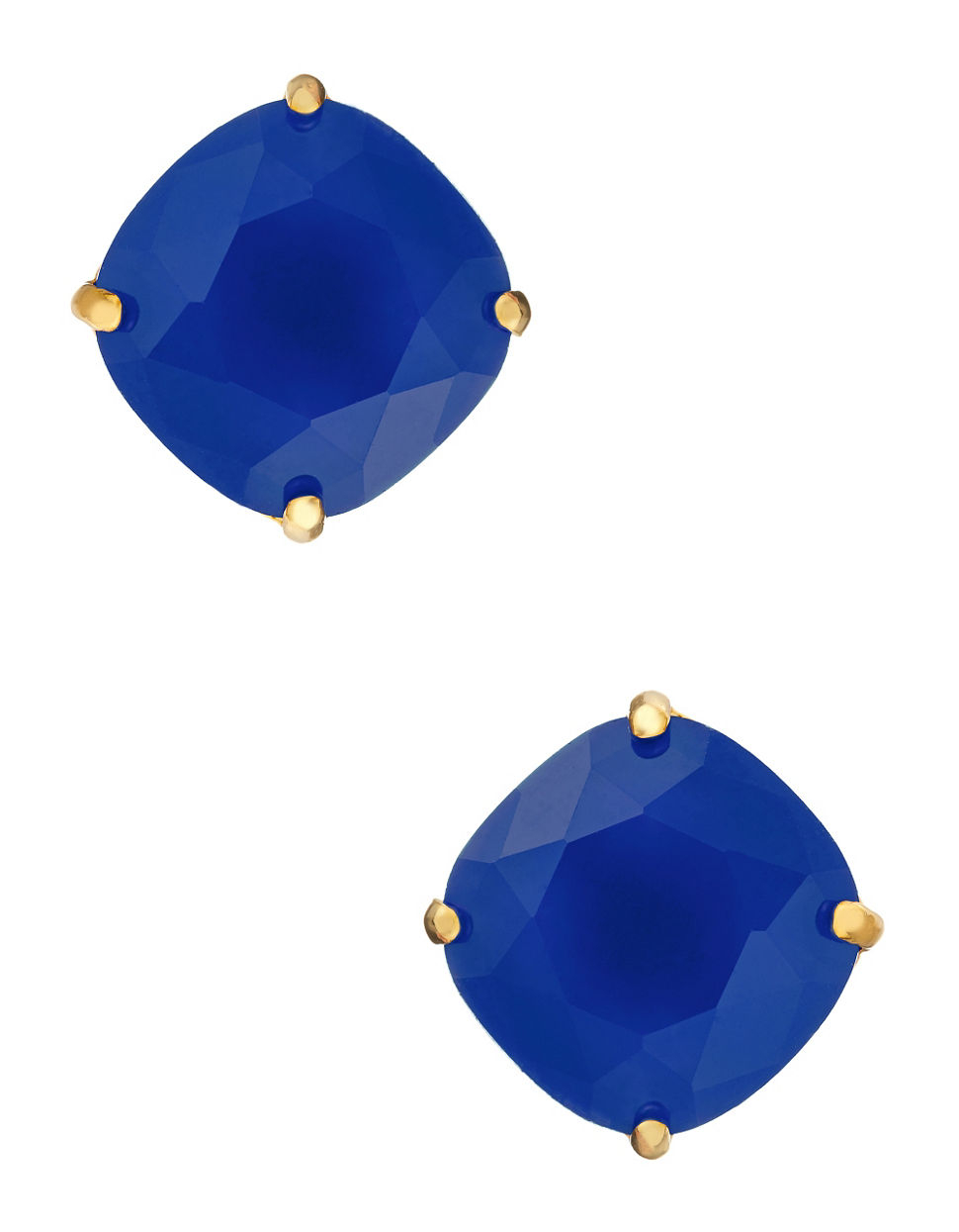 6ede2390326f1 Kate Spade Small Square Stud Earrings in Blue - Lyst