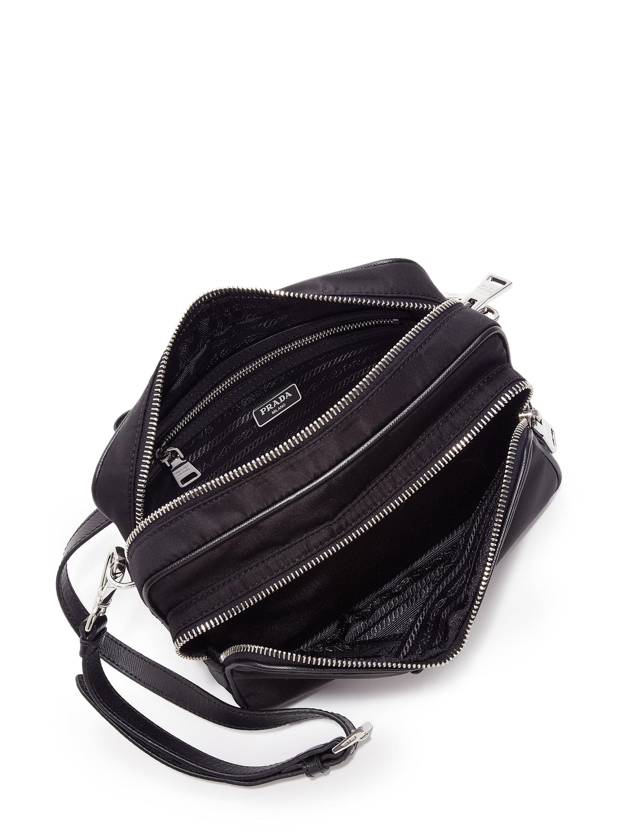 936c62f94100 Lyst - Prada Nylon Double-zip Camera Bag in Black