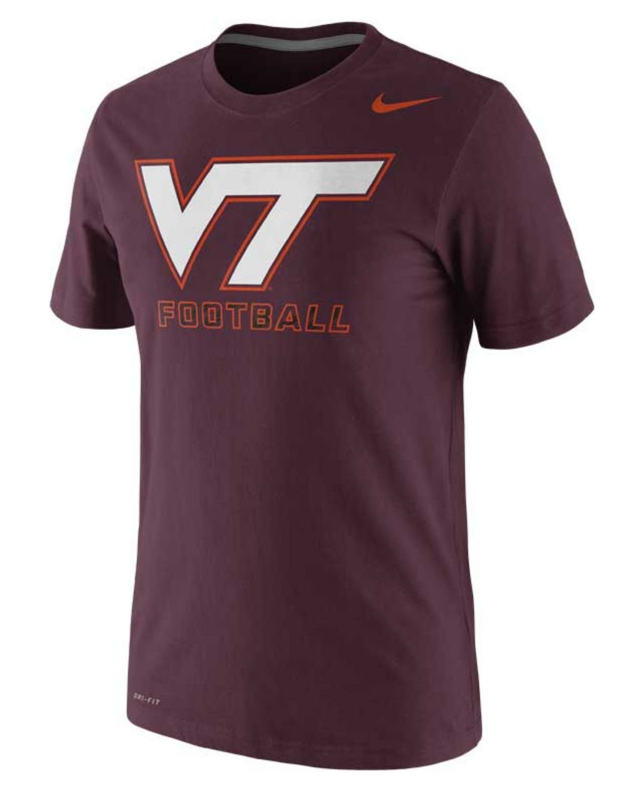Lyst Nike Men S Short Sleeve Virginia Tech Hokies T