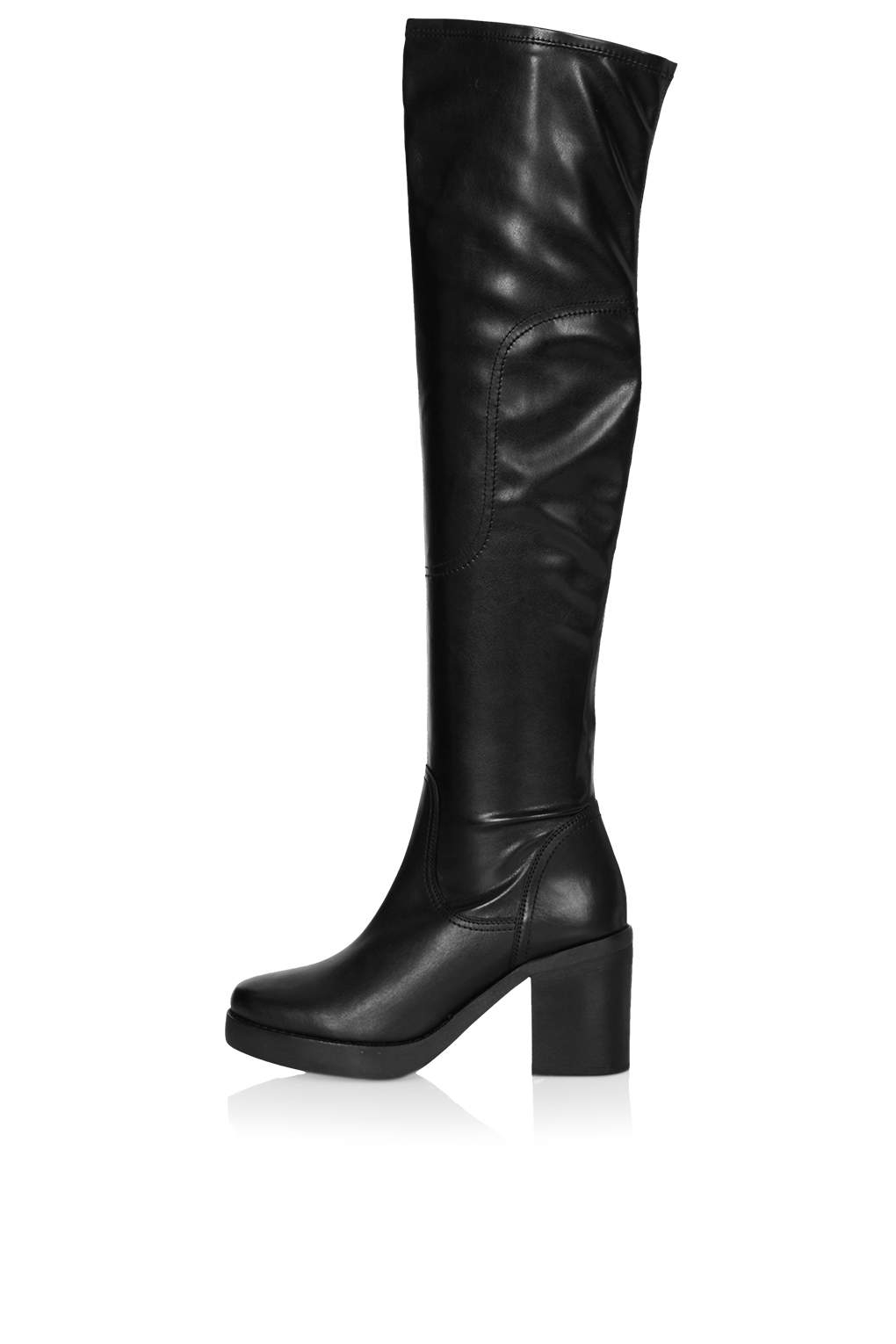 topshop clancy the knee boots in black lyst
