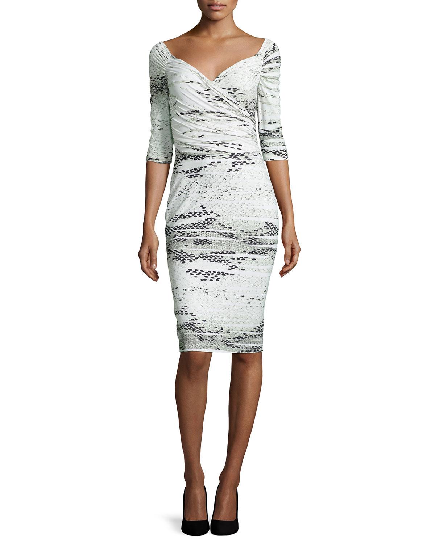 lyst la petite robe di chiara boni lexis snake print sheath dress. Black Bedroom Furniture Sets. Home Design Ideas