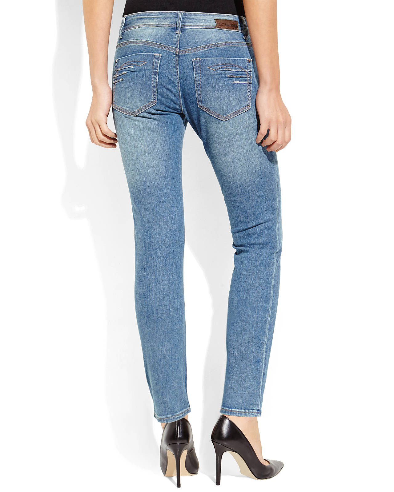 Dkny Petite Medium Wash City Skinny Jeans in Blue | Lyst