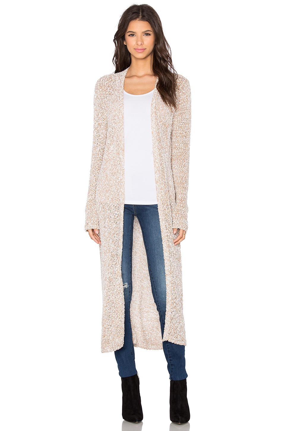 Bcbgeneration Long Cardigan in White | Lyst