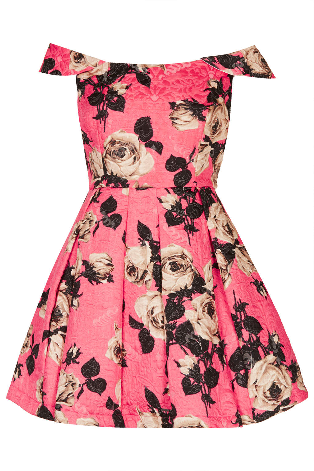 Lyst - Topshop Bardot Floral Prom Dress in Pink