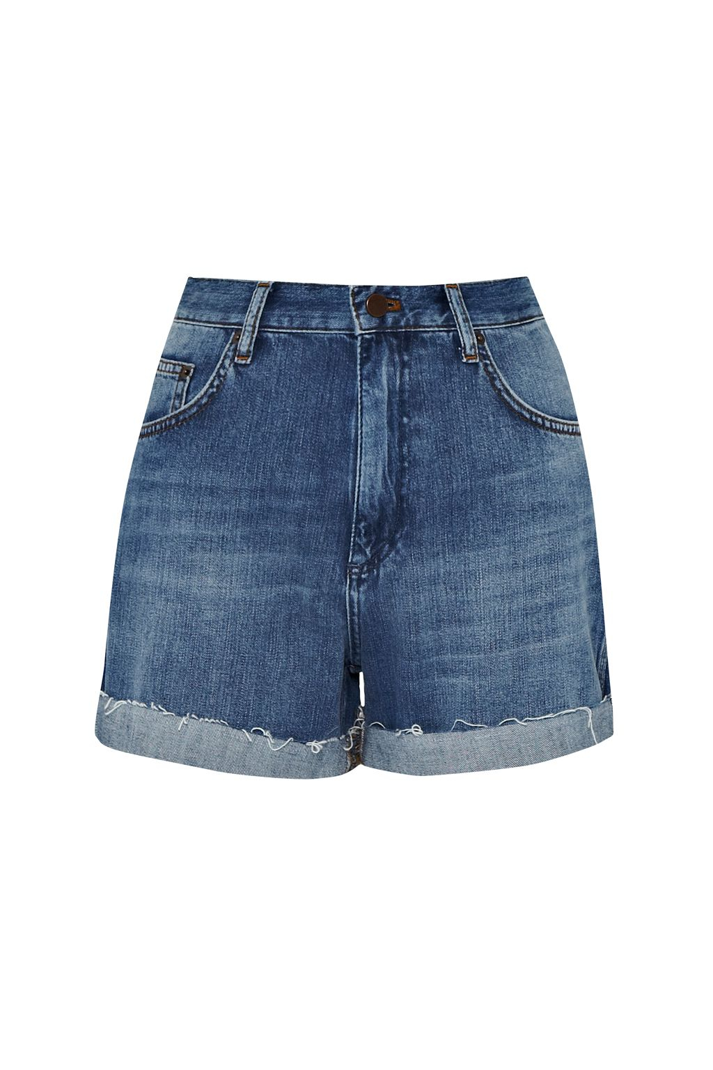 French connection Cut-off Denim Shorts in Blue | Lyst