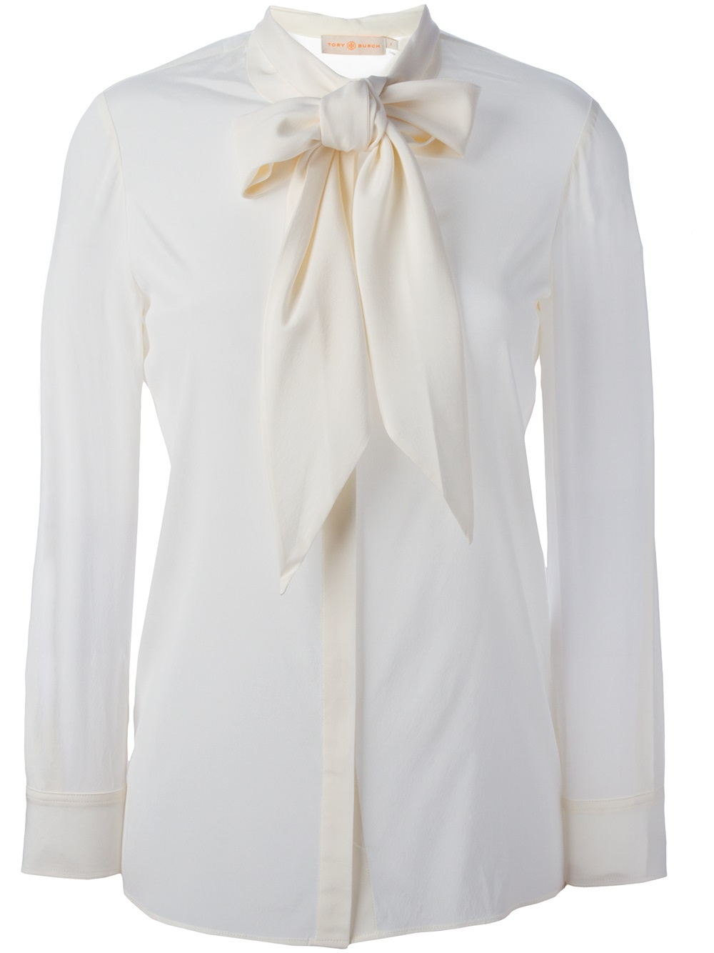 d49951f359d52 Lyst - Tory Burch Silk Tie Blouse in White