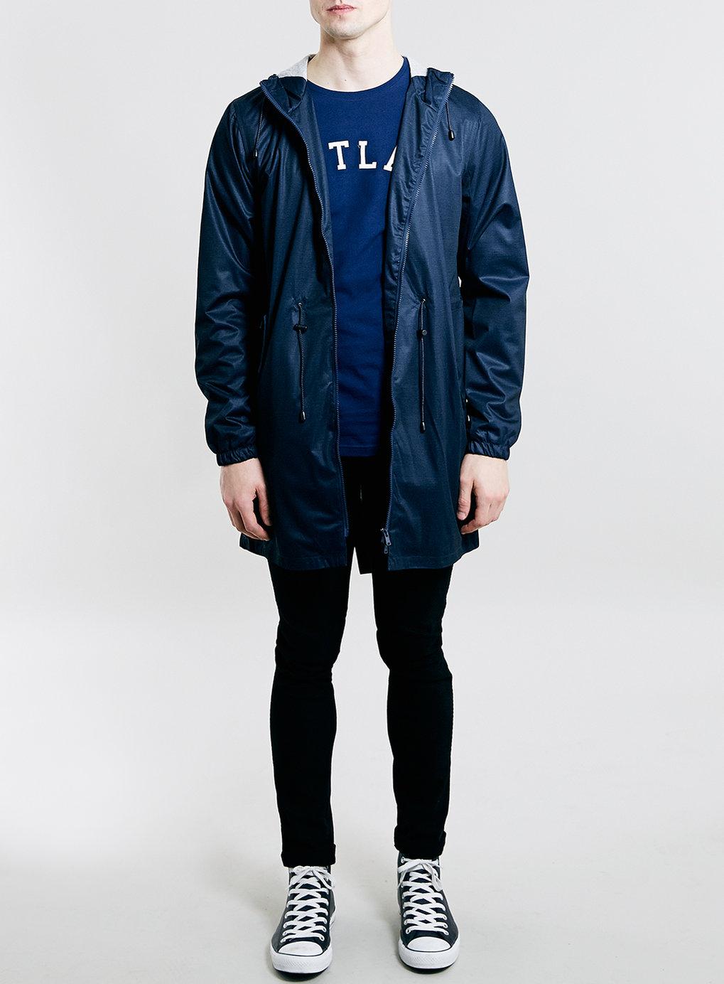Topman navy portland slim fit t shirt in blue for men lyst for Navy slim fit shirt
