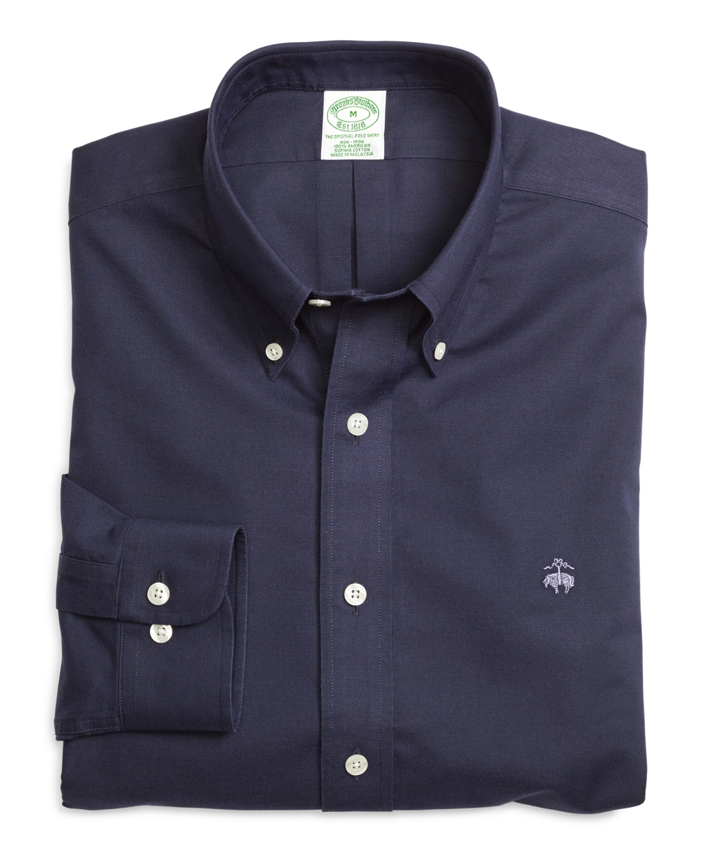 Brooks brothers non iron extra slim fit solid sport shirt for Brooks brothers non iron shirts review