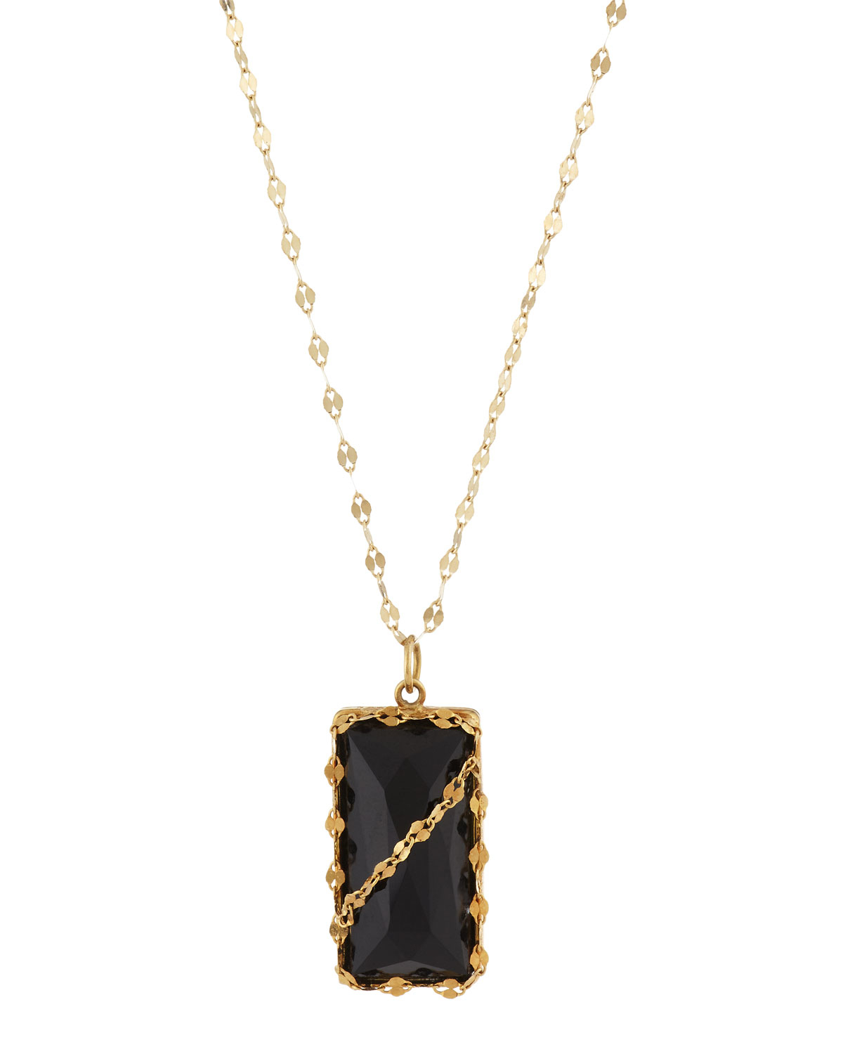 Lyst lana jewelry 14k muse black onyx pendant necklace in metallic gallery aloadofball Images