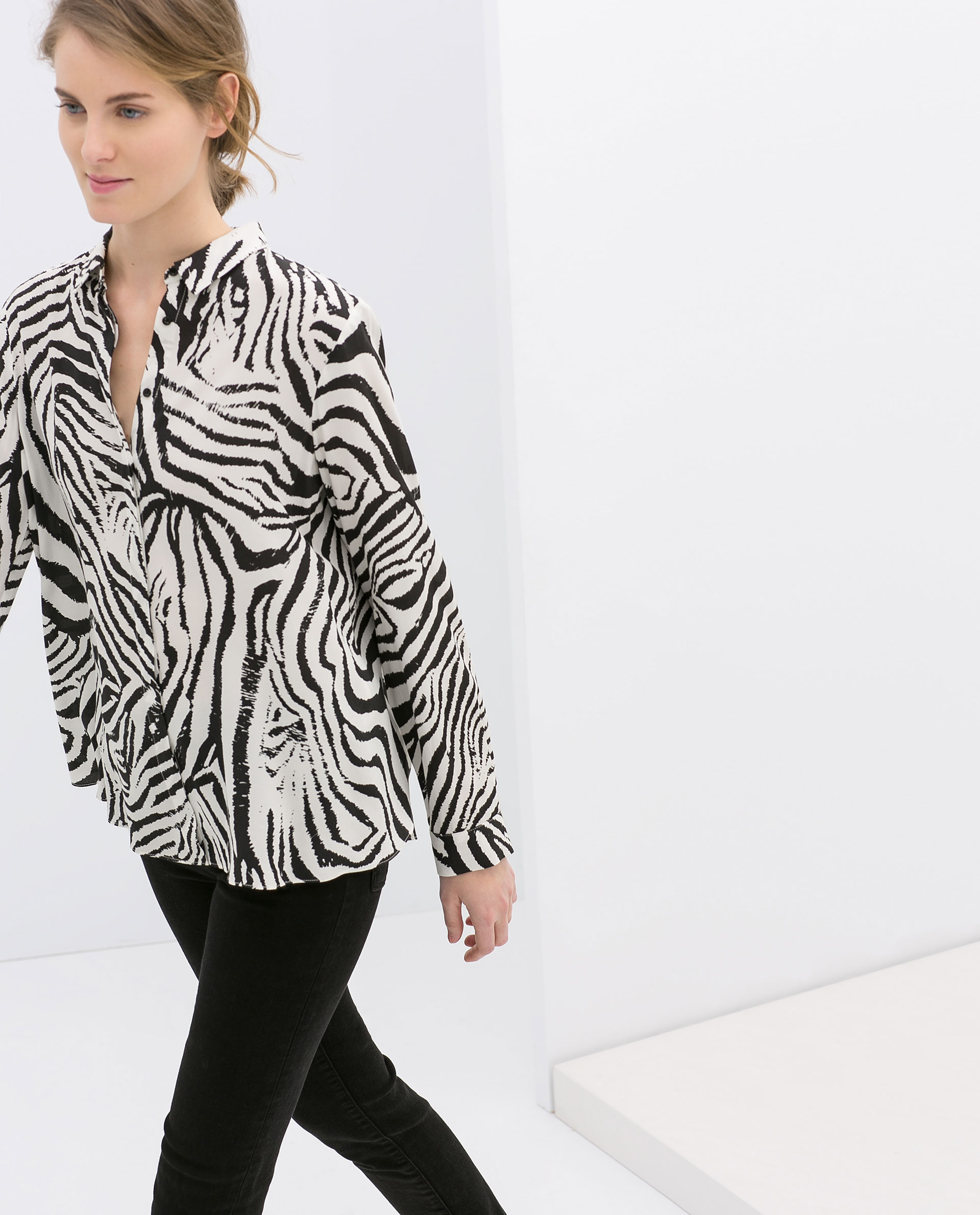 Zara Zebra Print Blouse 20