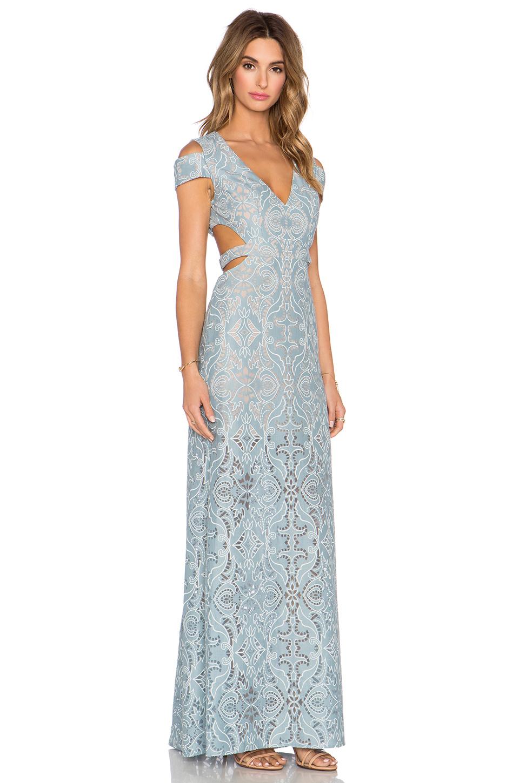 Lyst - Bcbgmaxazria Ava Cut Out Gown in Blue