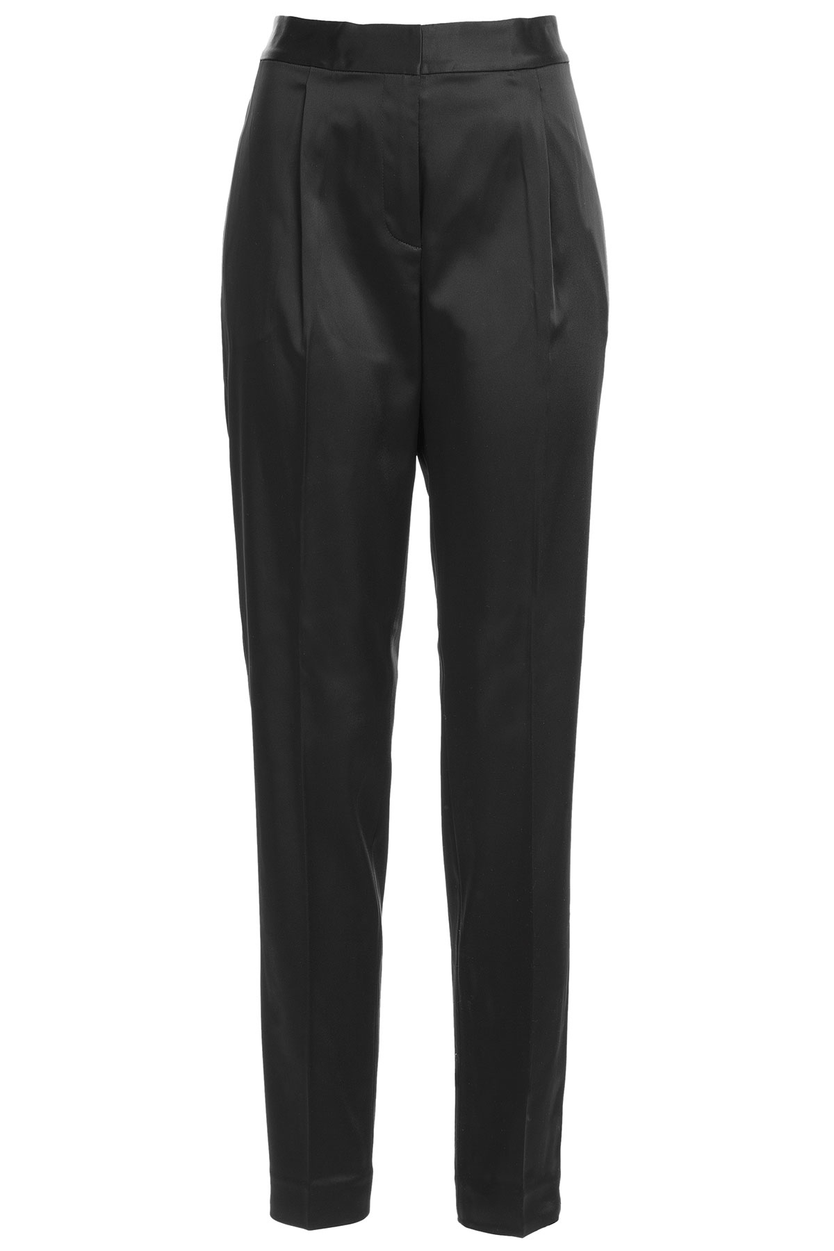 T by alexander wang Satin Pants - Black in Black | Lyst