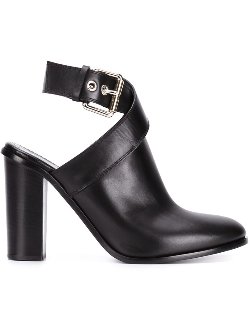 598ed704d12cf Proenza Schouler Ankle Strap Mules in Black - Lyst