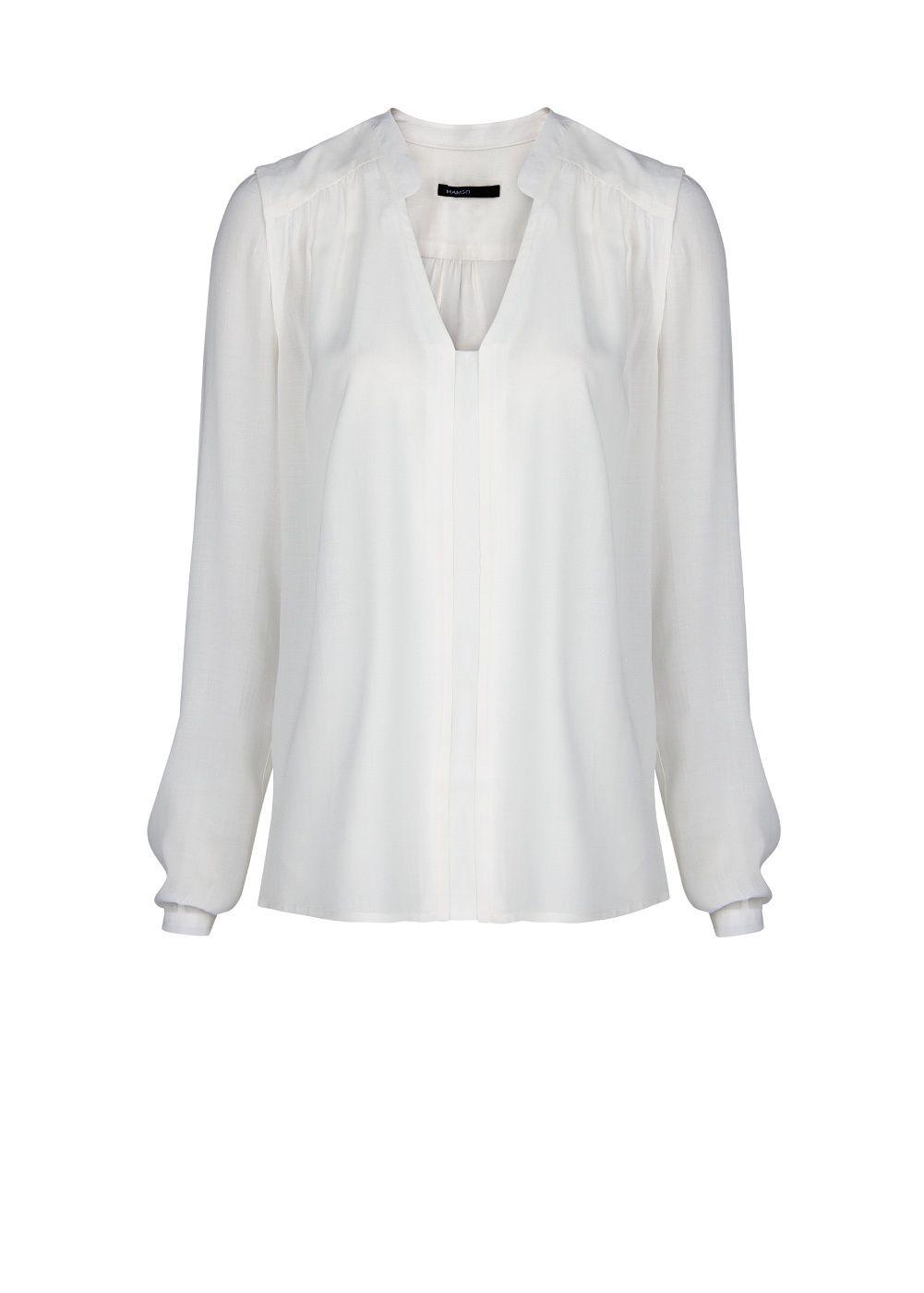White Flowy Shirt | Is Shirt