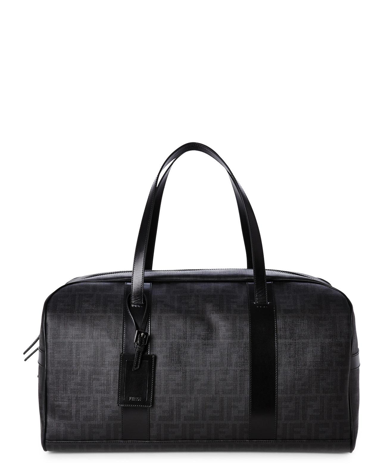 c82c3ec1203e ... italy lyst fendi black zucca weekender bag in black for men 33d18 343b5