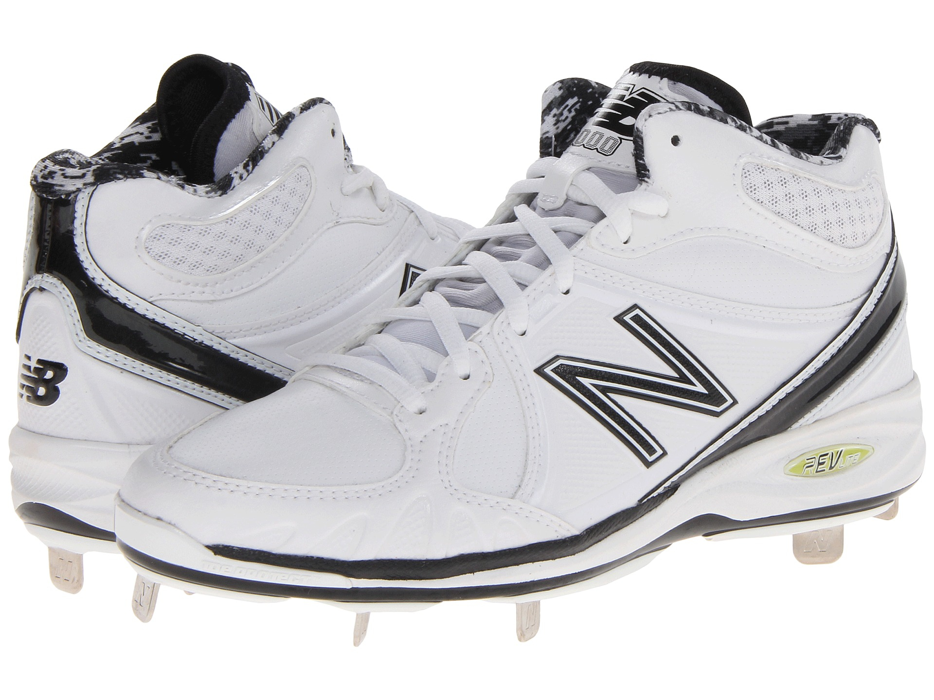 1e0c4f7e9e0 New Balance Mb3000 Metal Synthetic Mid-cut Cleat in White for Men - Lyst