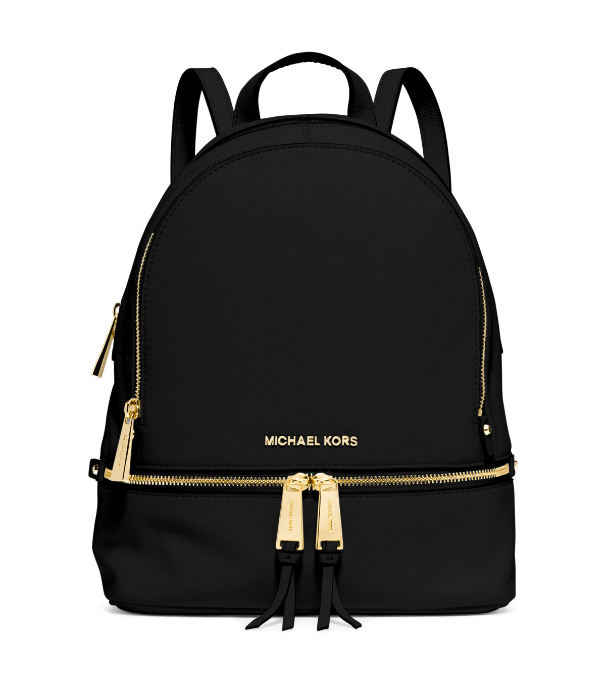 michael michael kors rhea small zip backpack in black lyst. Black Bedroom Furniture Sets. Home Design Ideas