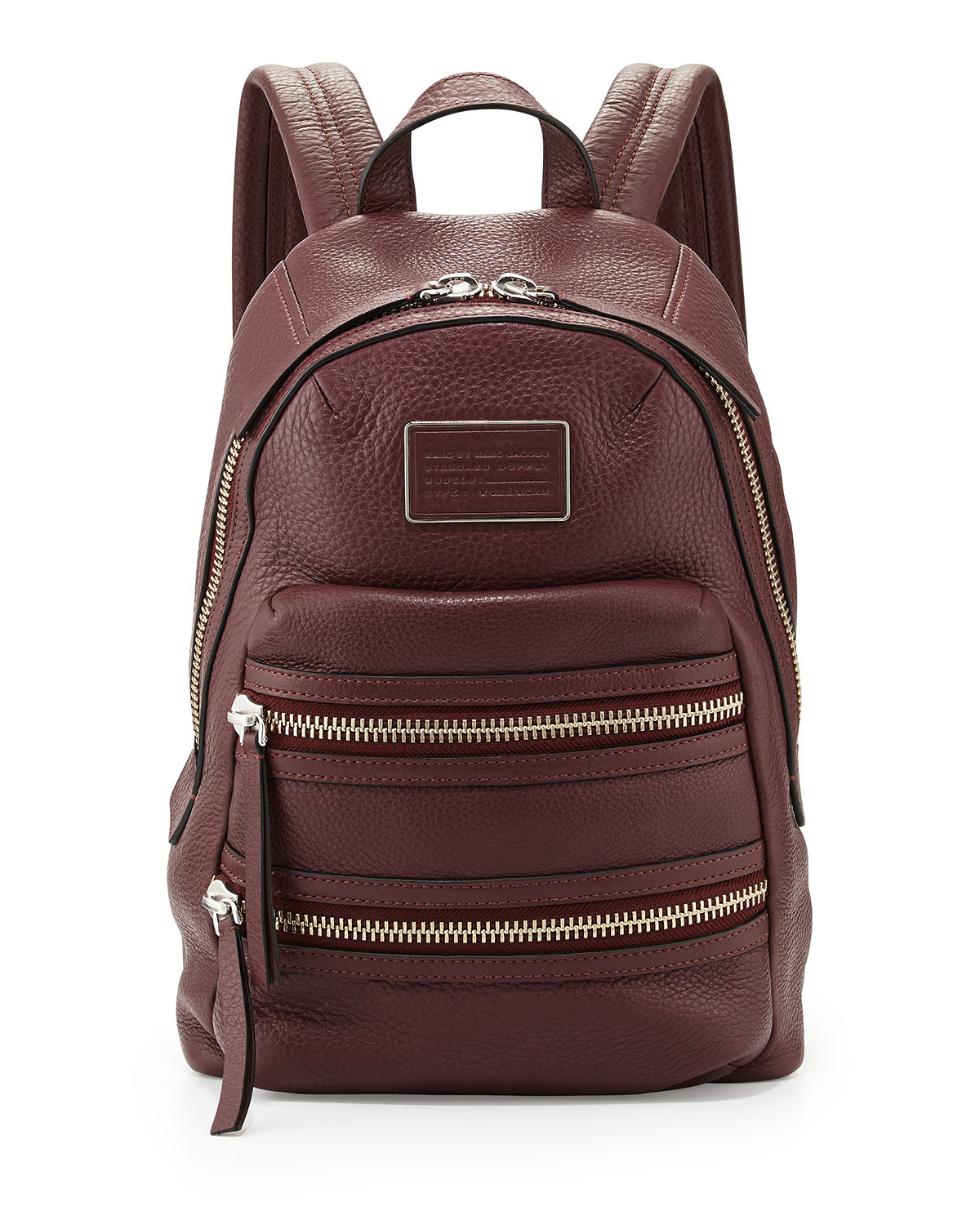 marc by marc jacobs domo biker leather backpack in purple lyst. Black Bedroom Furniture Sets. Home Design Ideas